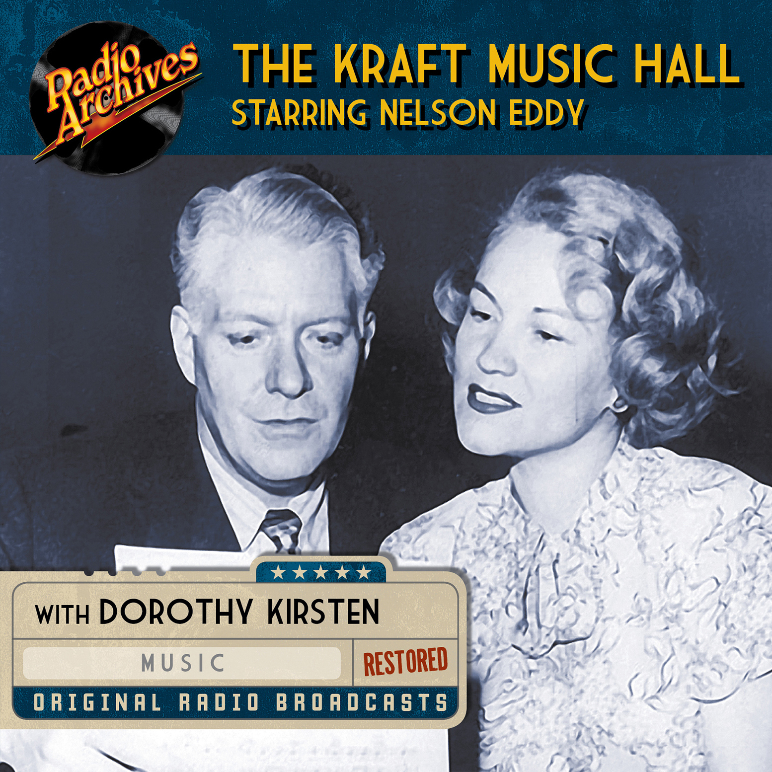Printable The Kraft Music Hall Starring Nelson Eddy Audiobook Cover Art