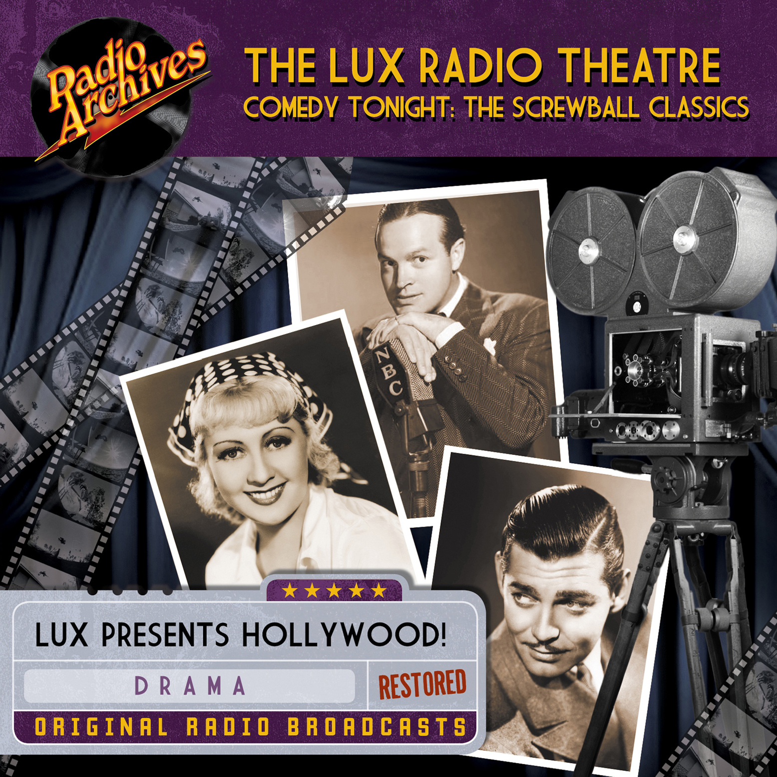 Printable Lux Radio Theatre, Comedy Tonight:  The Screwball Classics Audiobook Cover Art