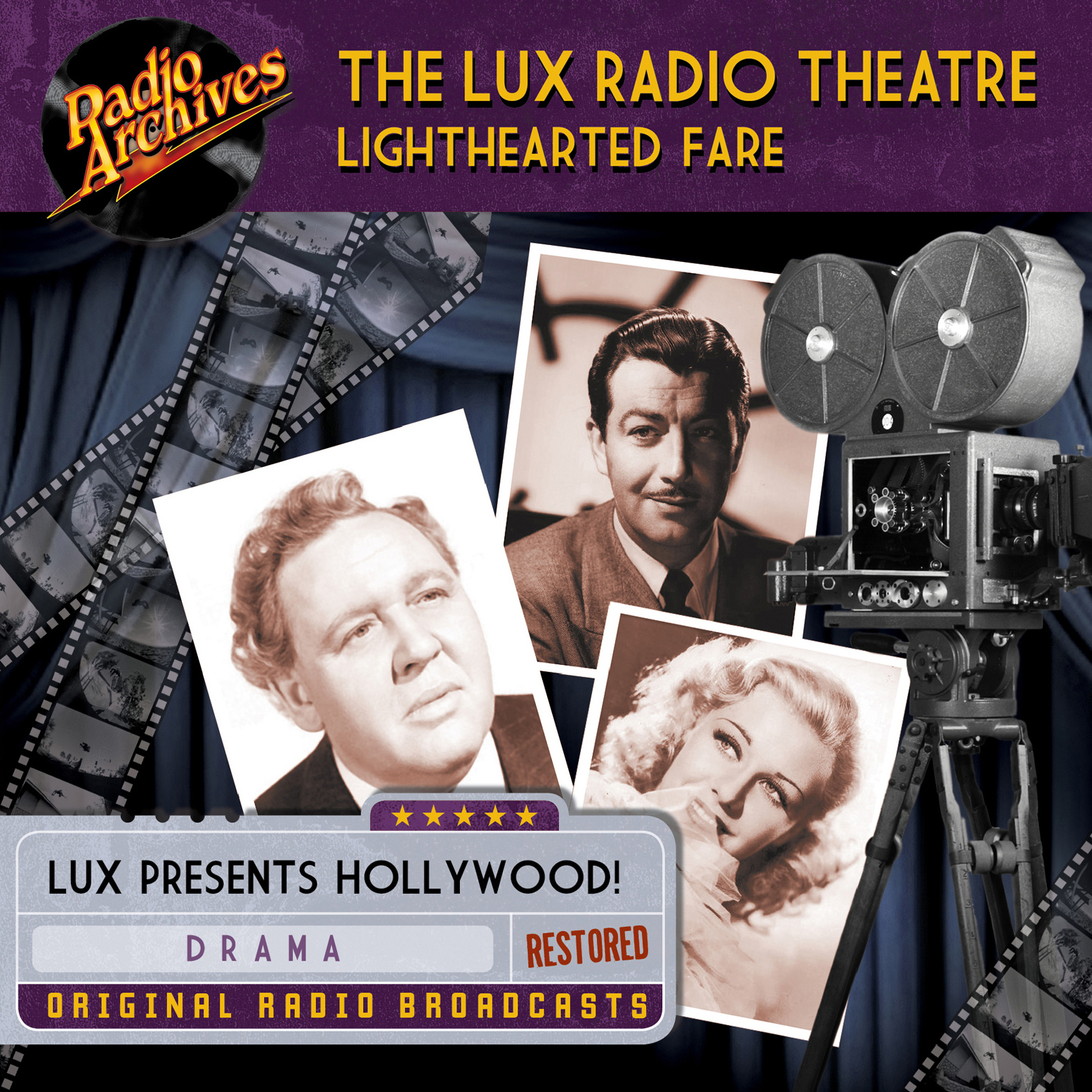 Printable Lux Radio Theatre, Lighthearted Fare Audiobook Cover Art