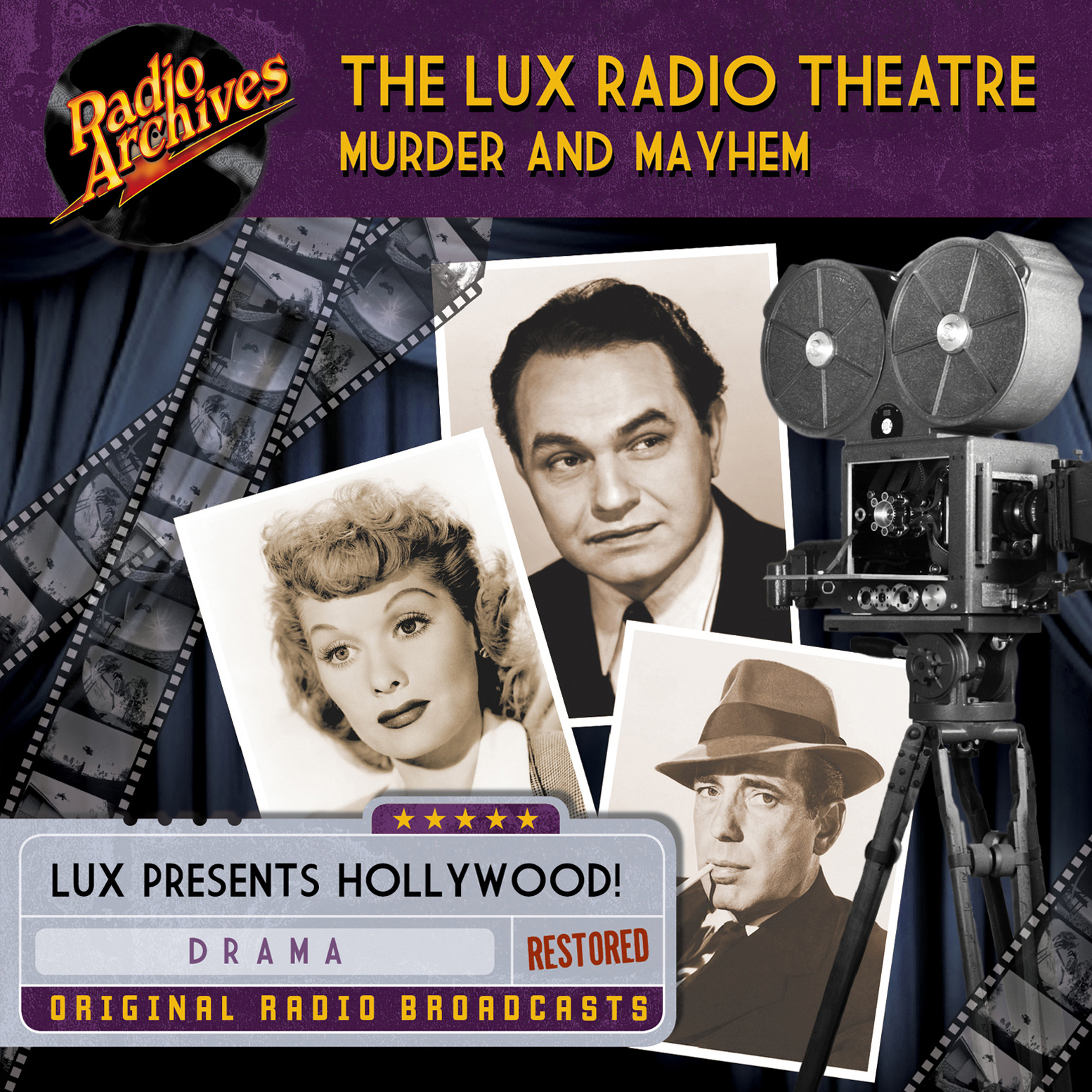 Printable Lux Radio Theatre, Murder and Mayhem Audiobook Cover Art
