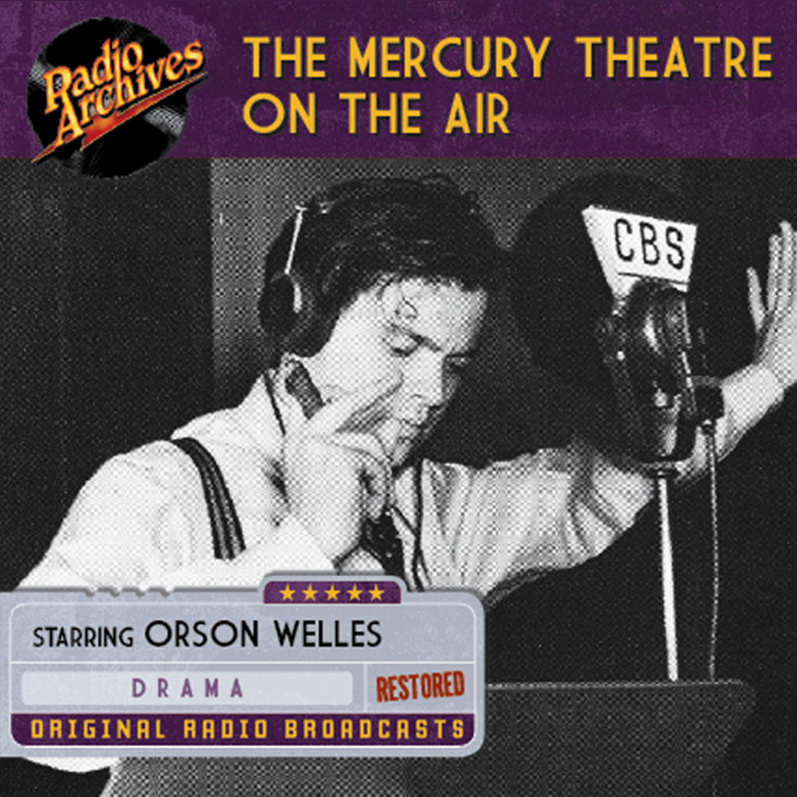 Printable Mercury Theatre on the Air Audiobook Cover Art