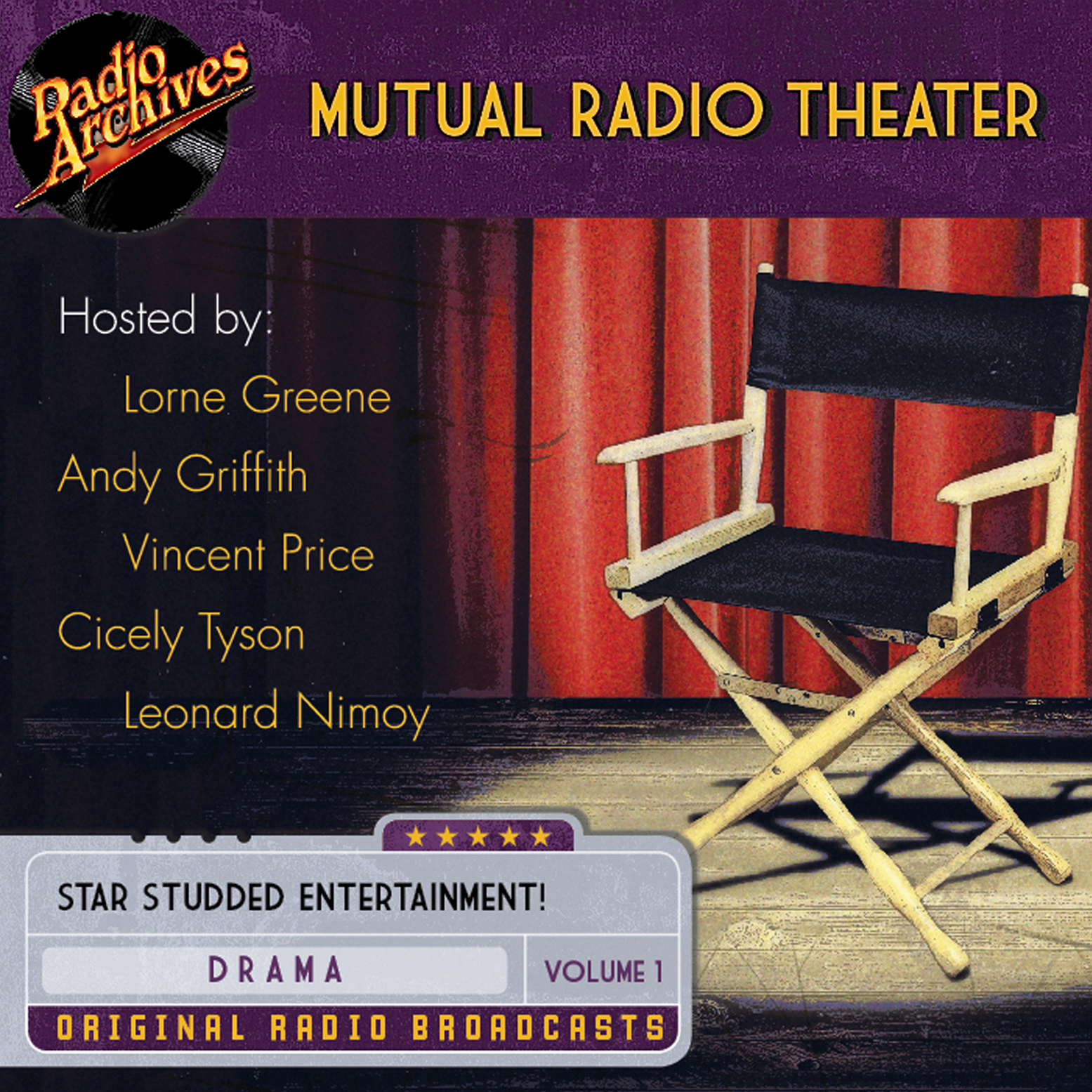 Printable Mutual Radio Theater, Volume 1 Audiobook Cover Art
