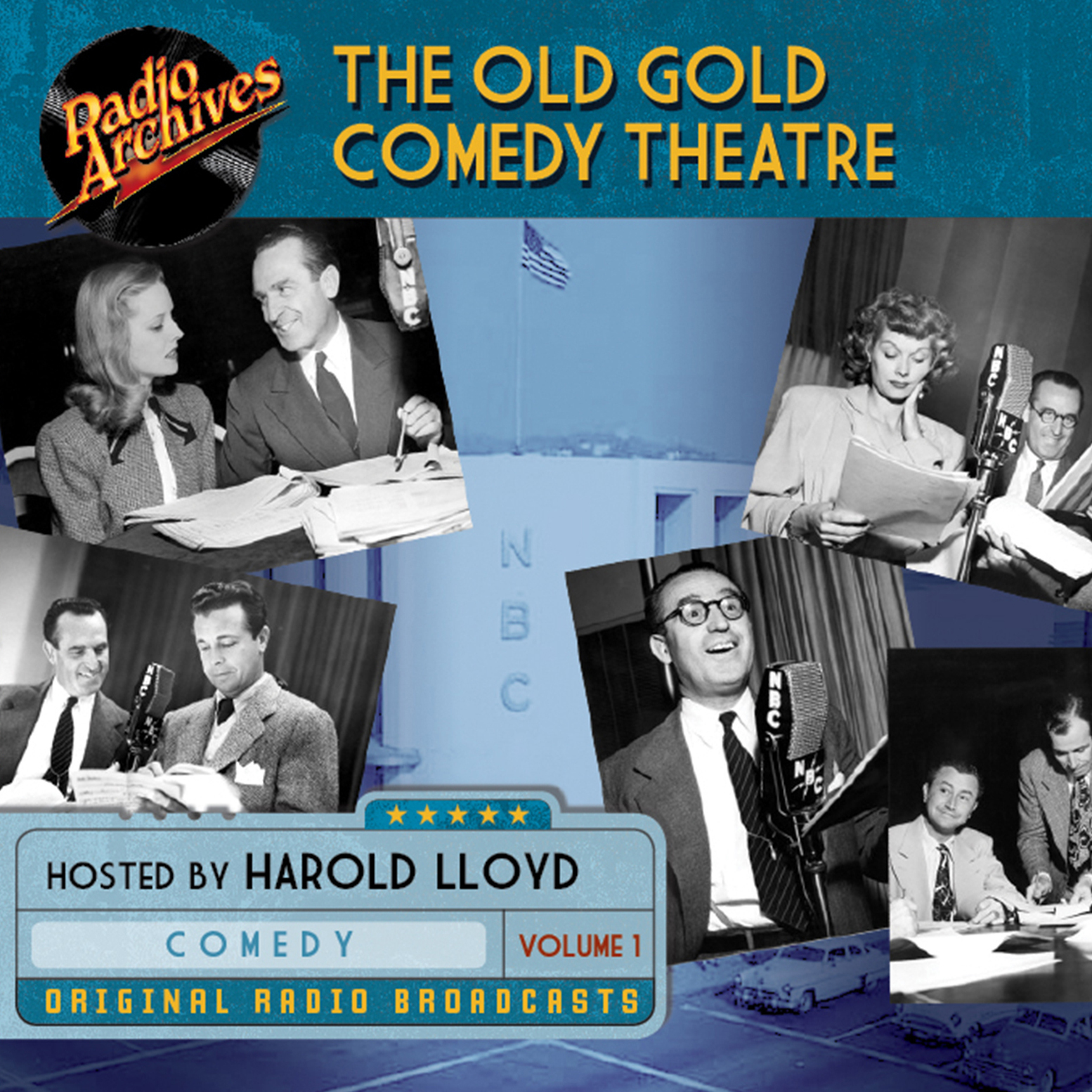 Printable Old Gold Comedy Theatre, Volume 1 Audiobook Cover Art