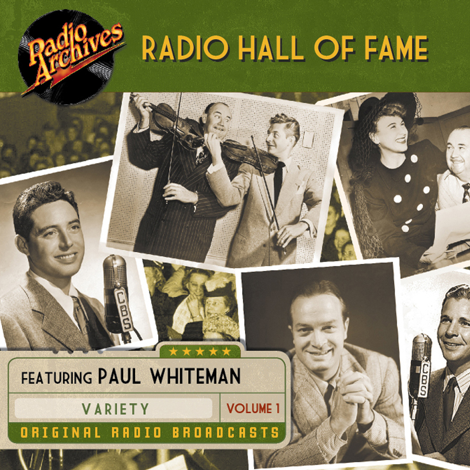 Printable Radio Hall of Fame, Volume 1 Audiobook Cover Art