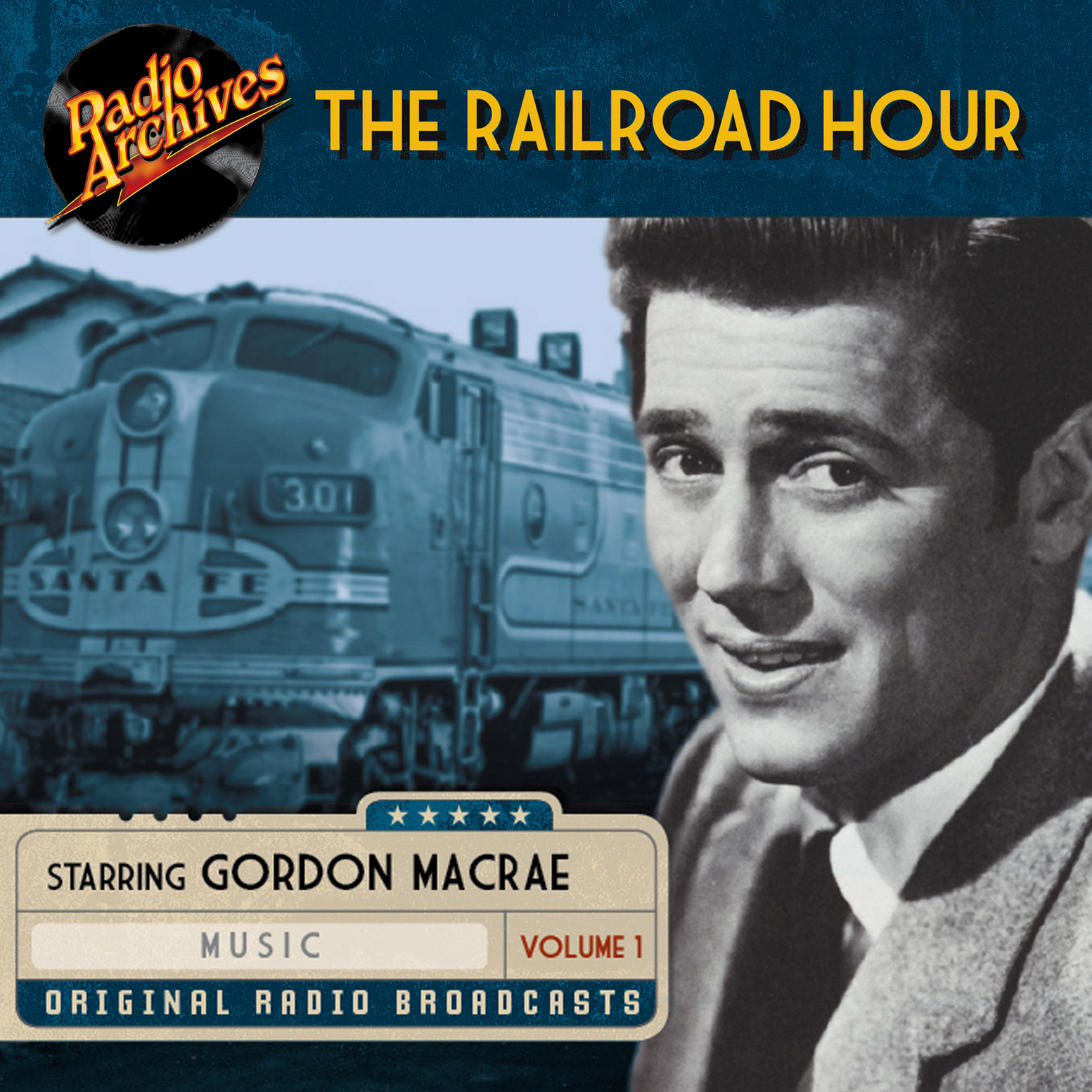 Printable Railroad Hour, Volume 1 Audiobook Cover Art
