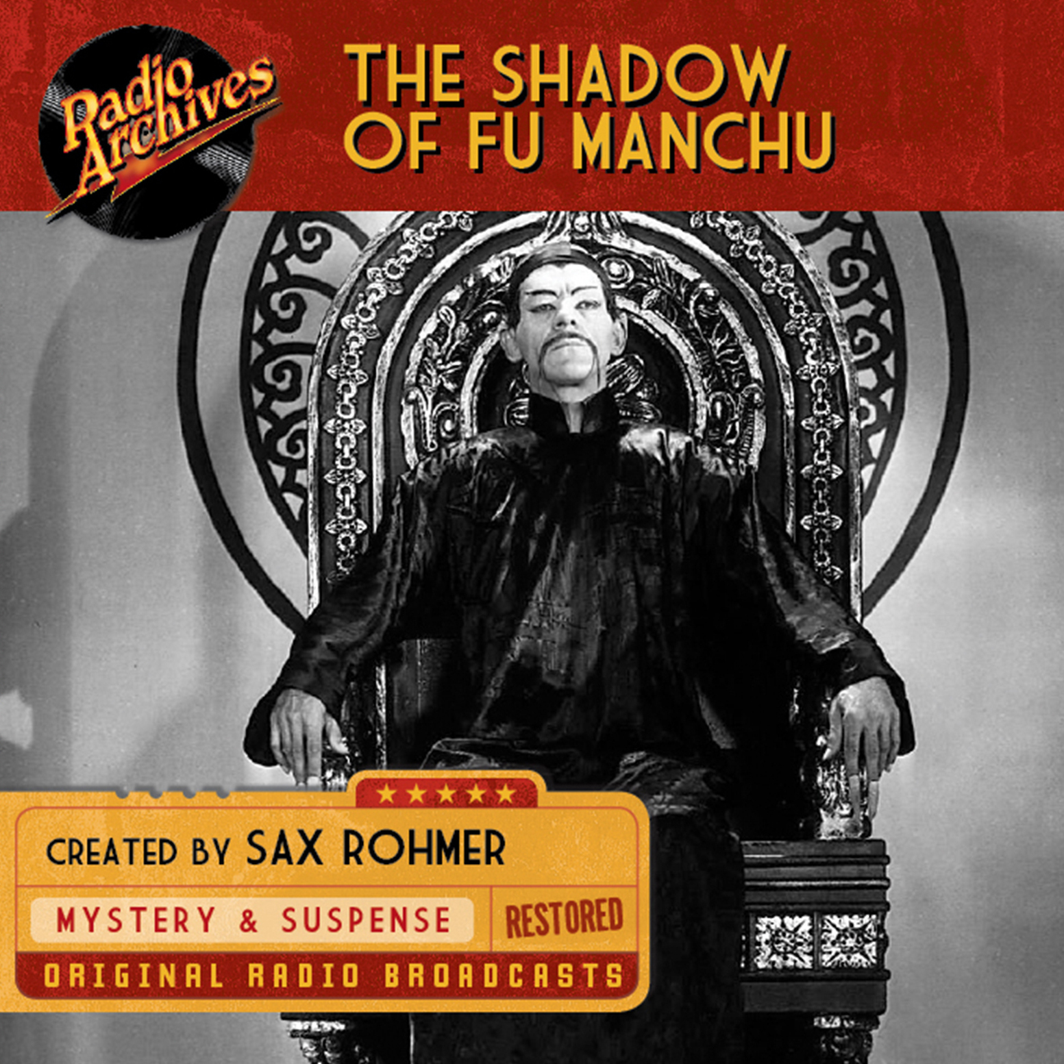 Printable The Shadow of Fu-Manchu Audiobook Cover Art