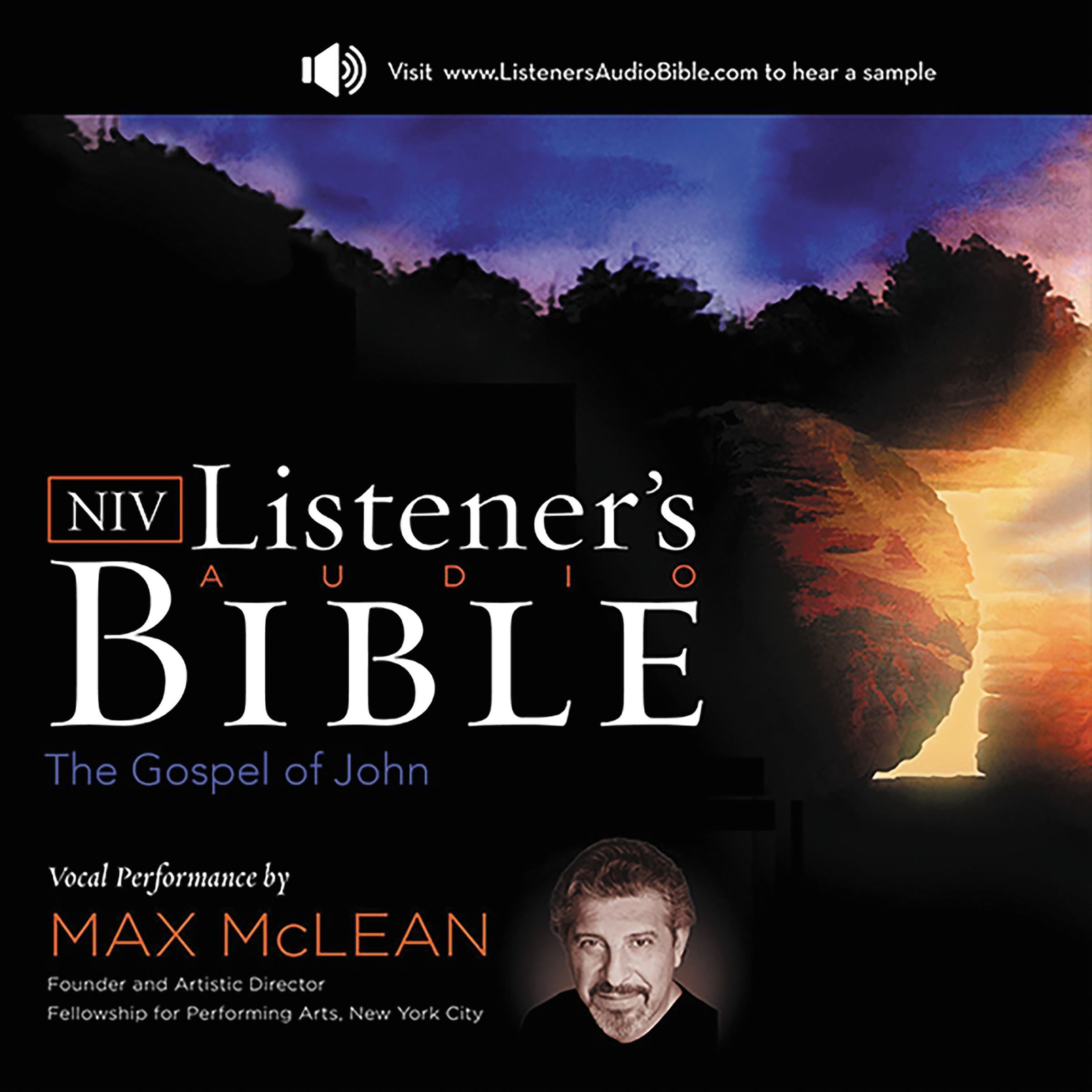 Printable NIV, Listener's Audio Bible, Gospel of John, Audio Download: Vocal Performance by Max McLean Audiobook Cover Art
