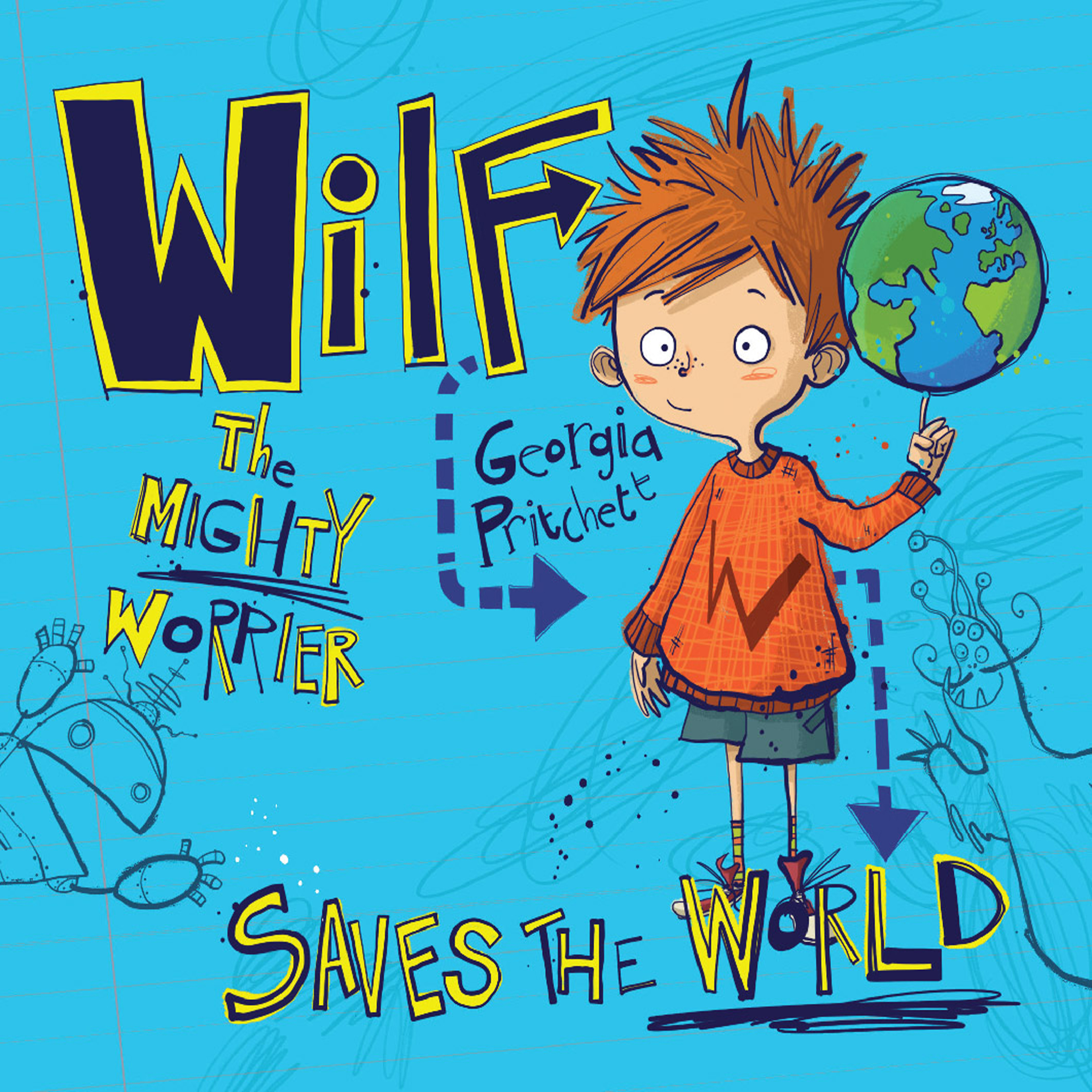 Printable Wilf The Mighty Worrier: Saves the World Audiobook Cover Art