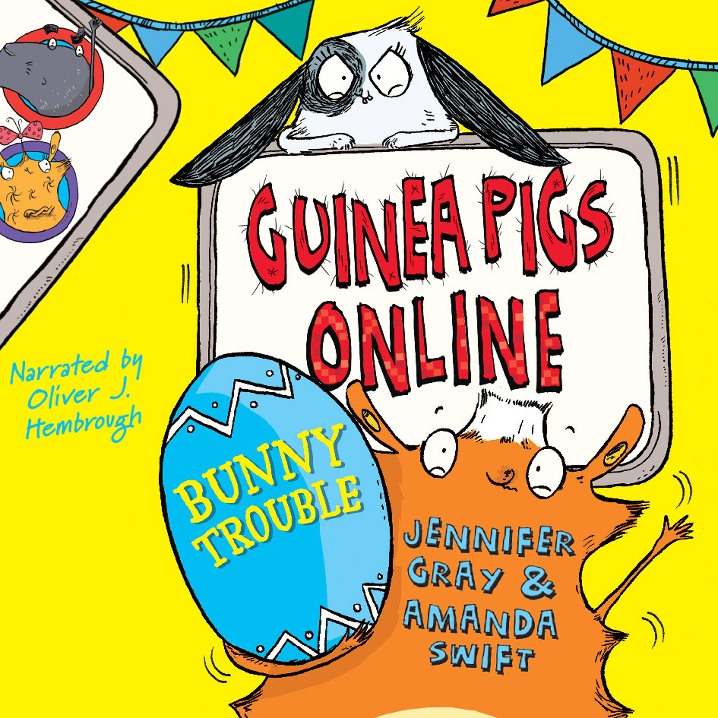Printable Guinea Pigs Online: Bunny Trouble Audiobook Cover Art