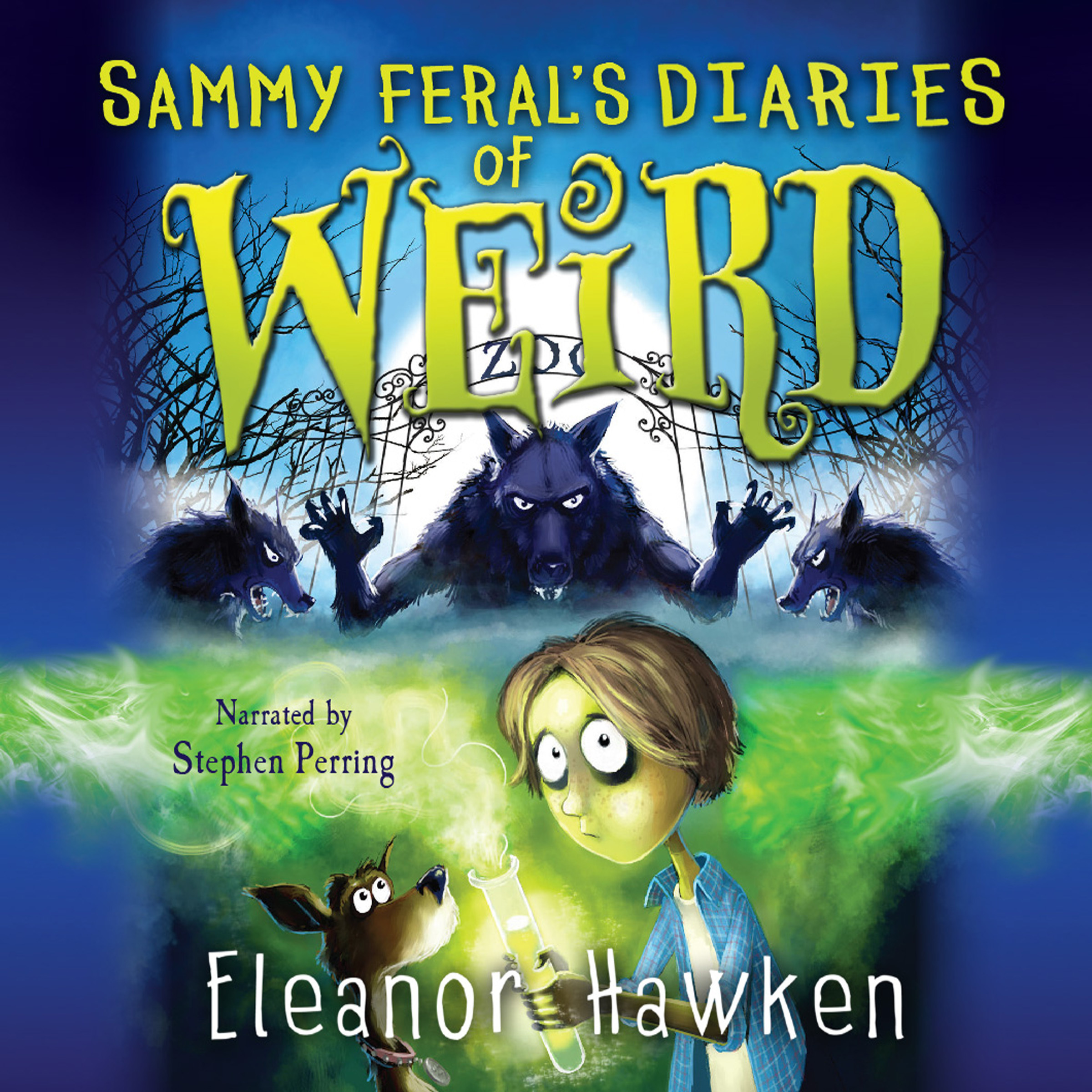 Printable Sammy Feral's Diaries of Weird Audiobook Cover Art