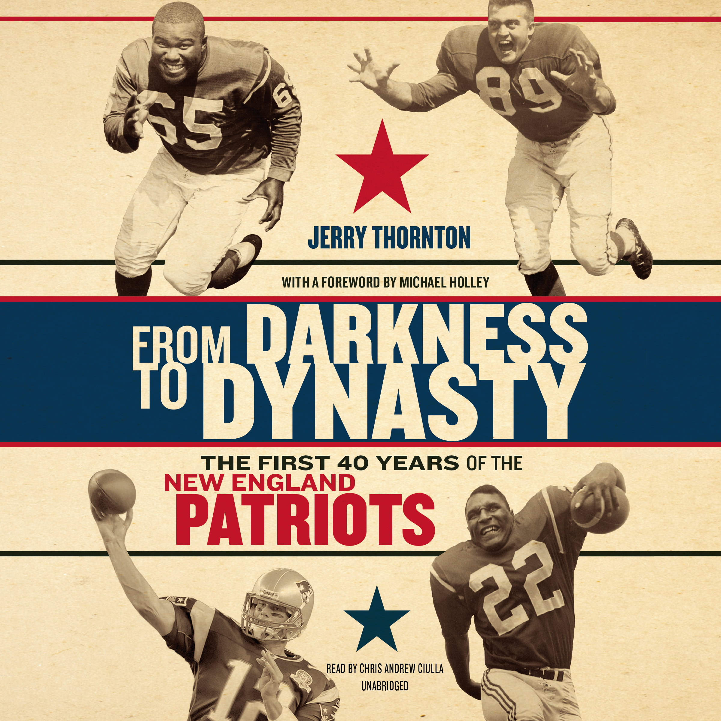 Printable From Darkness to Dynasty: The First 40 Years of the New England Patriots Audiobook Cover Art