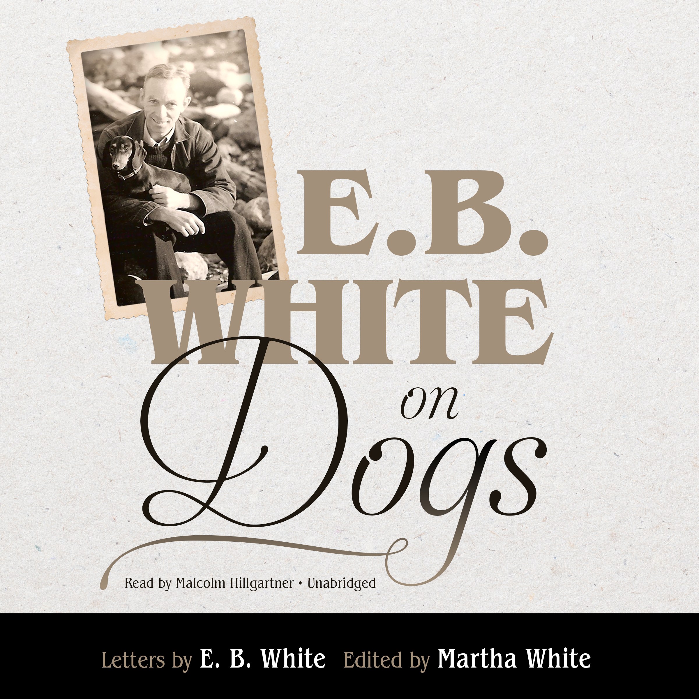 Printable E. B. White on Dogs Audiobook Cover Art