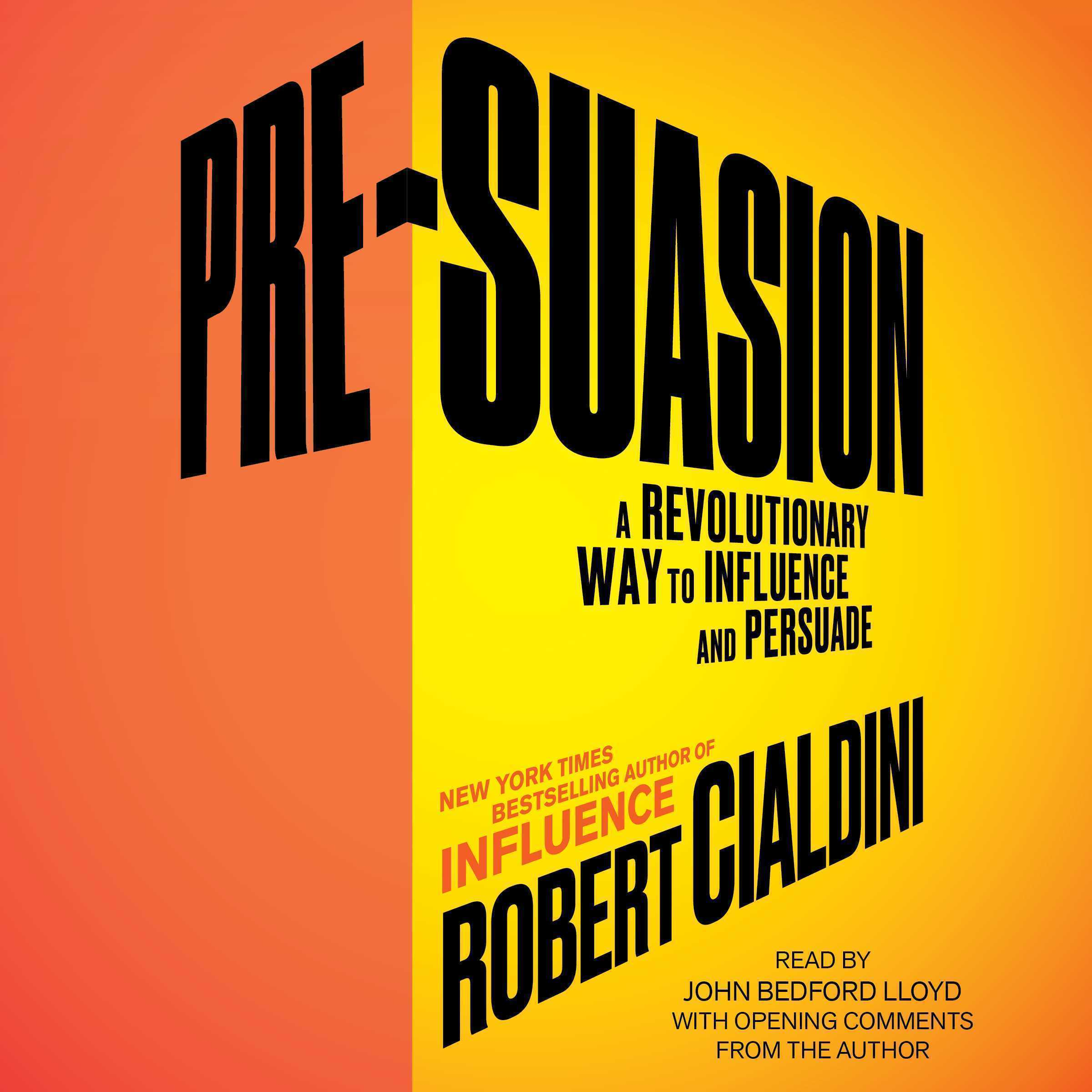 Printable Pre-Suasion: Channeling Attention for Change Audiobook Cover Art
