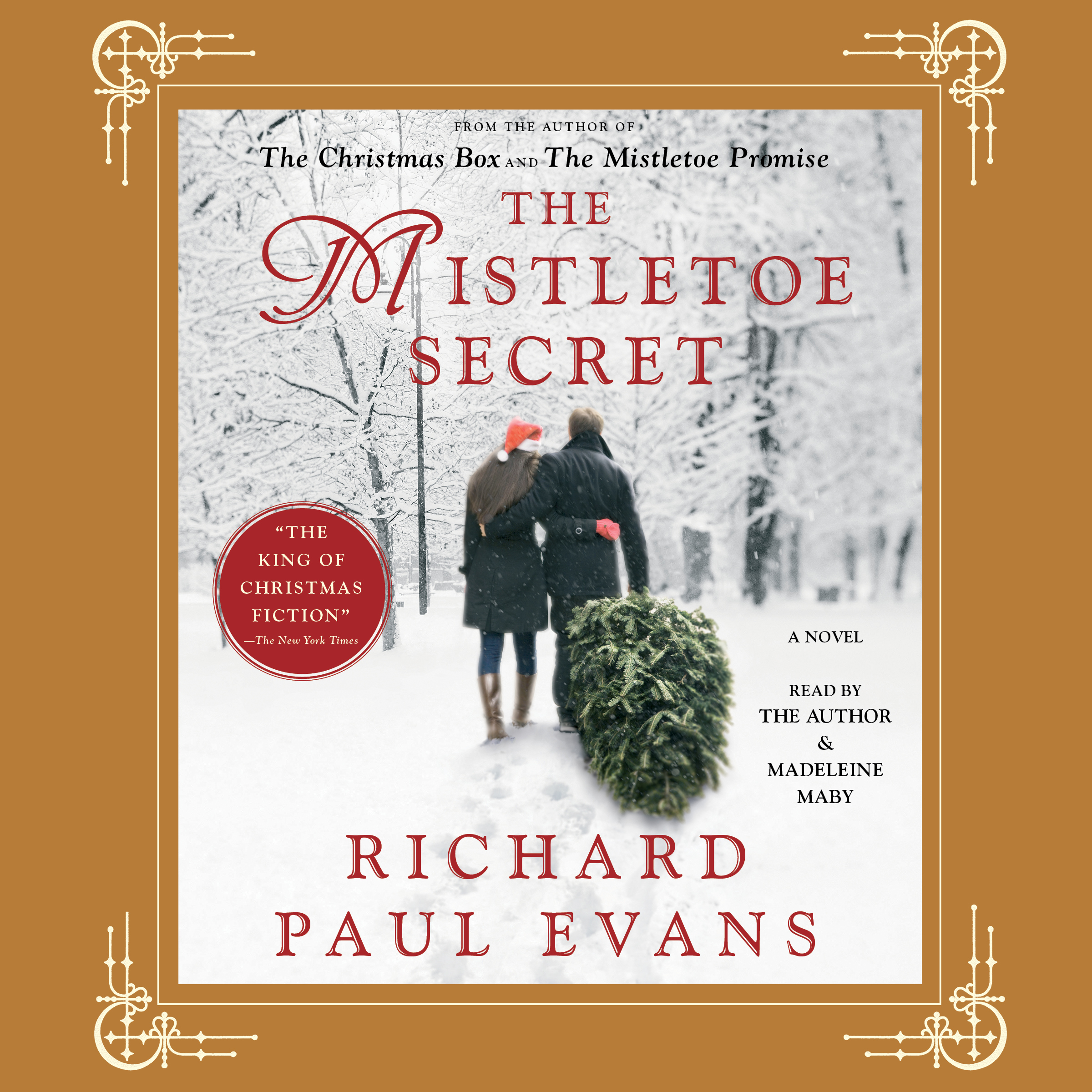 Printable Mistletoe Secret Audiobook Cover Art