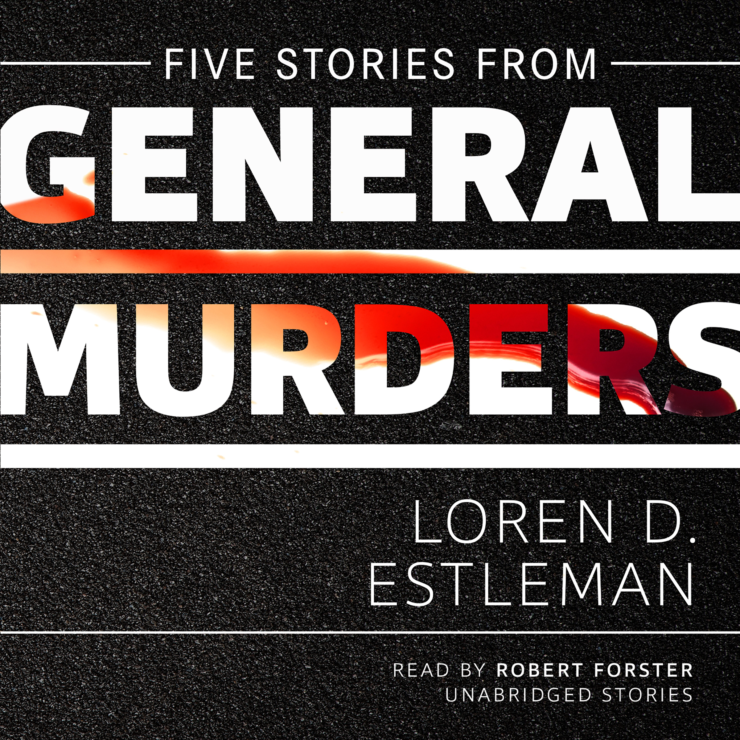 Printable Five Stories from General Murders Audiobook Cover Art