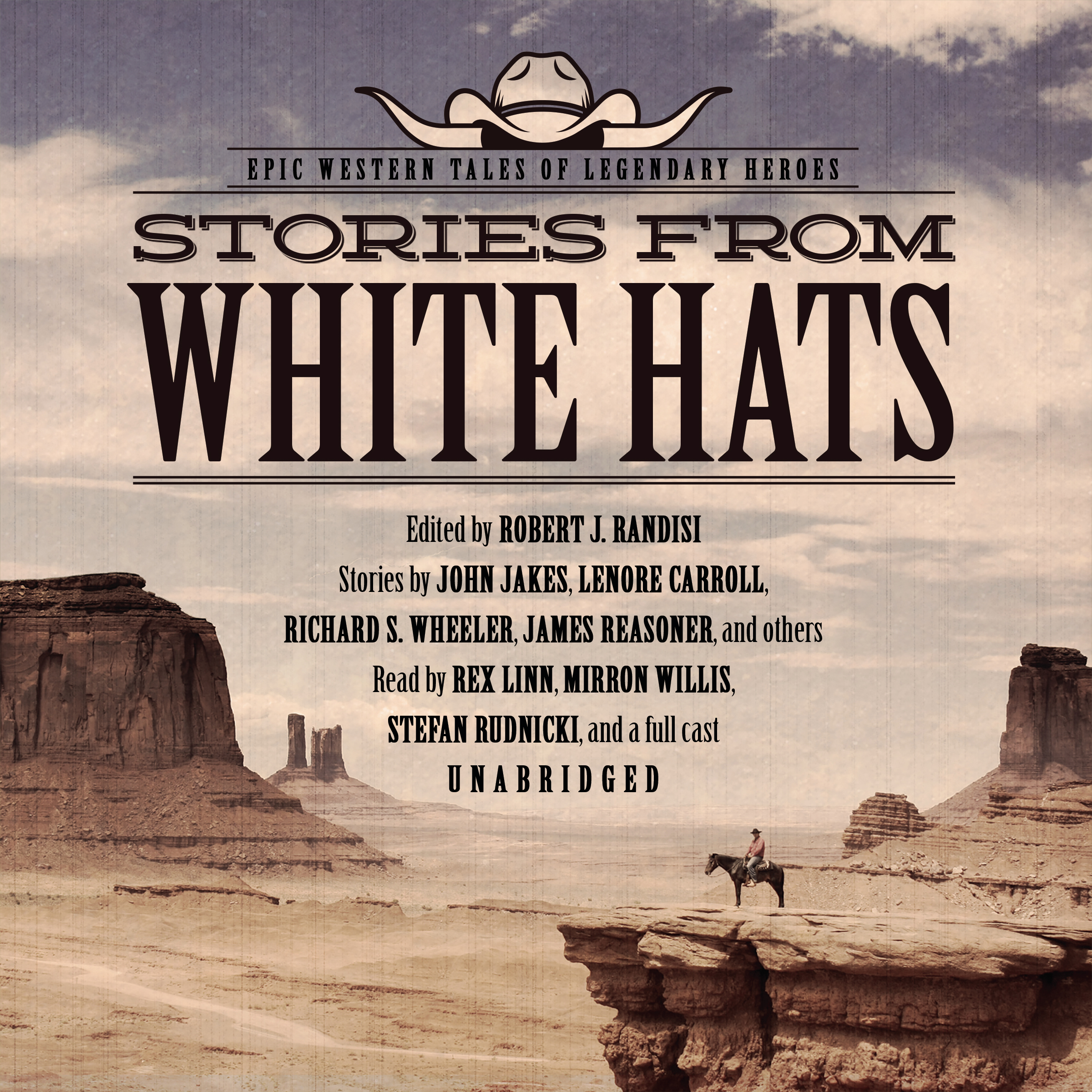 Printable Stories from White Hats: Epic Western Tales of Legendary Heroes Audiobook Cover Art