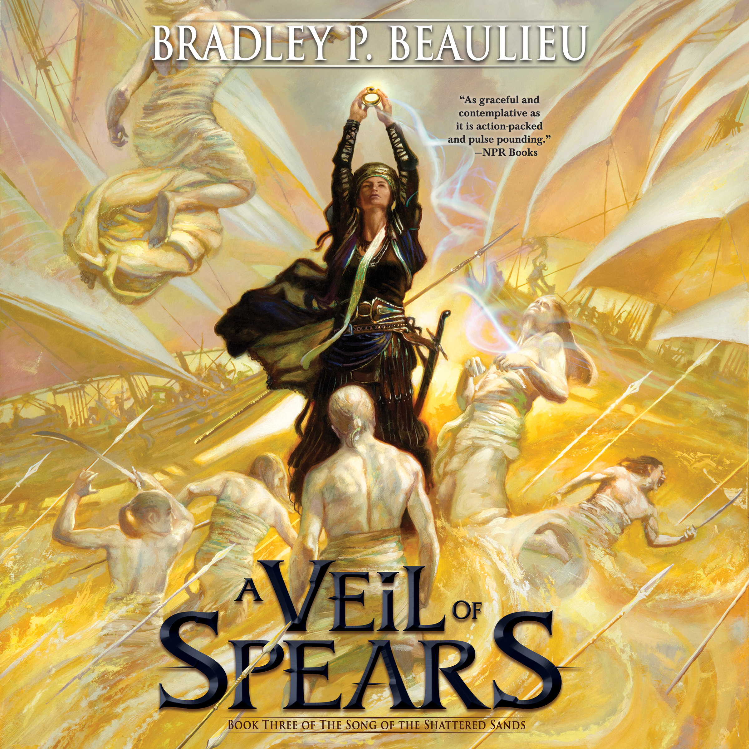 Printable A Veil of Spears Audiobook Cover Art