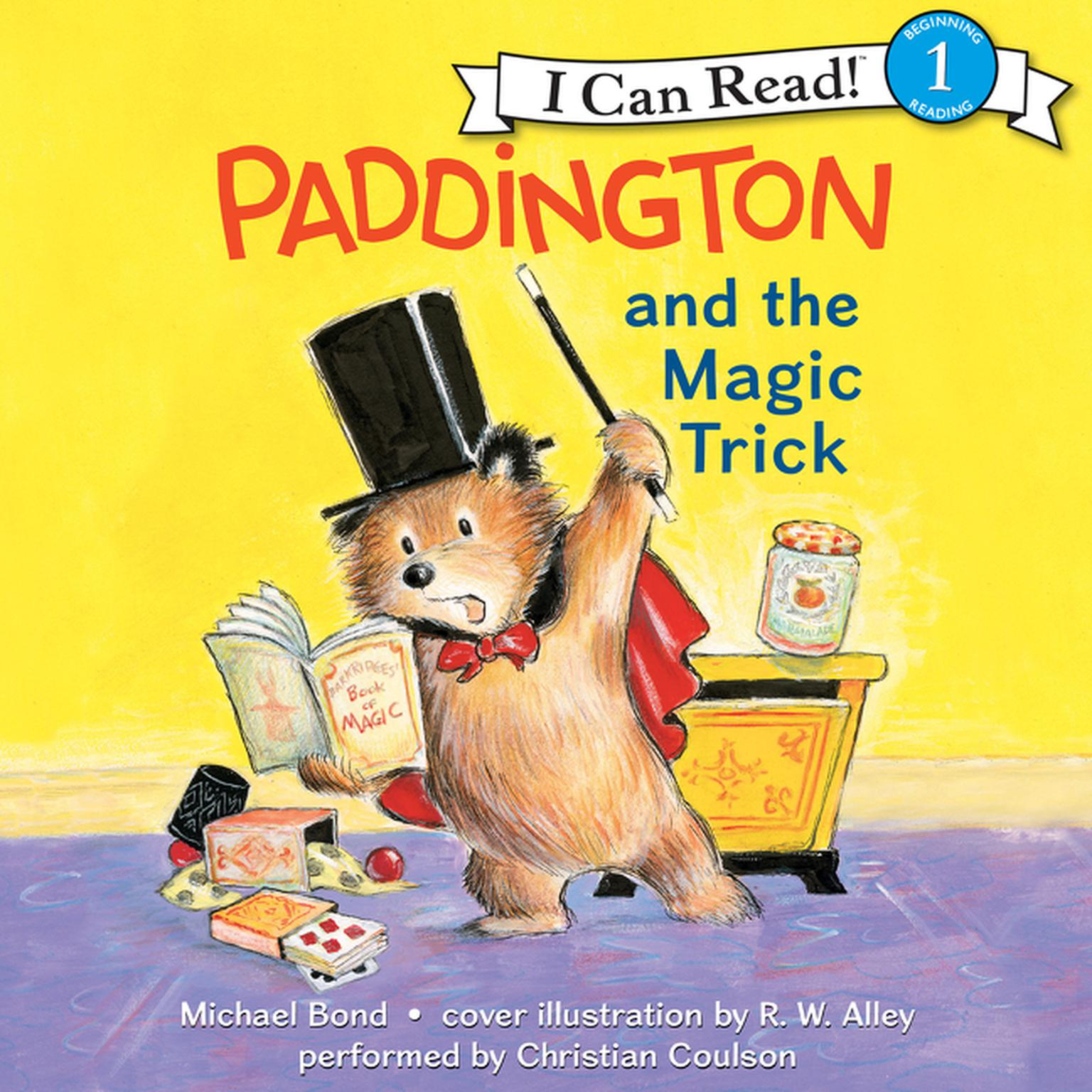 Printable Paddington and the Magic Trick Audiobook Cover Art