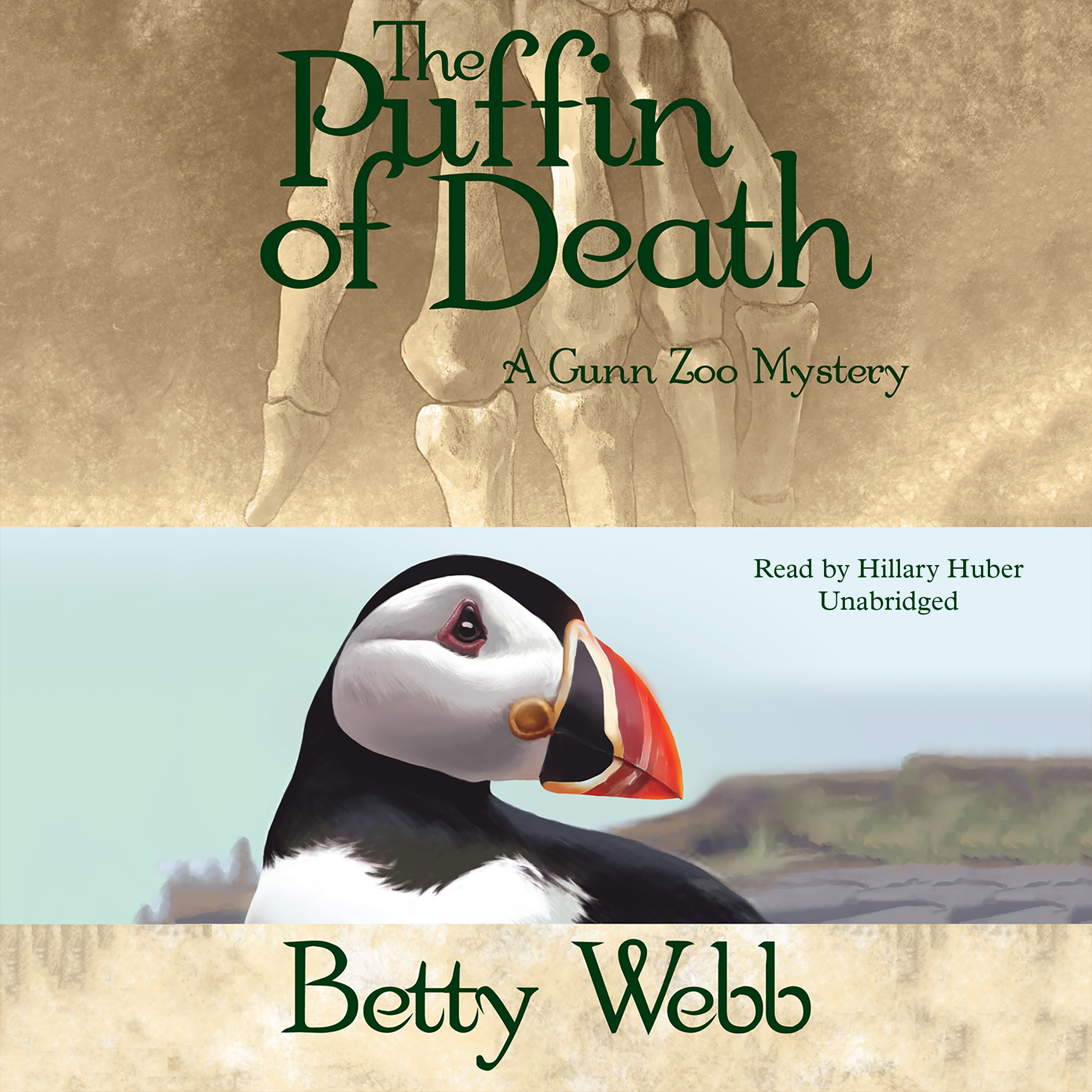 Printable The Puffin of Death: A Gunn Zoo Mystery Audiobook Cover Art