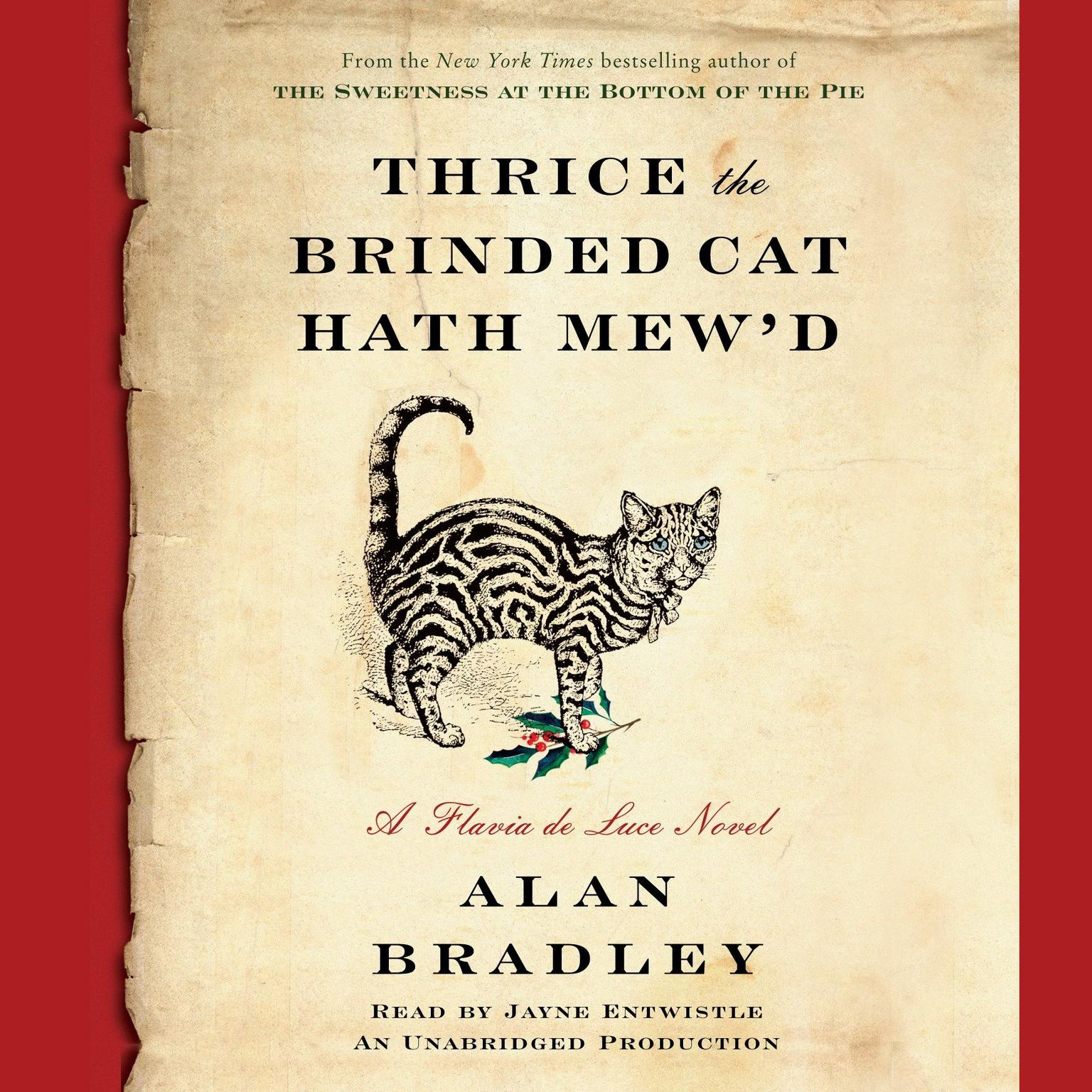 Printable Thrice the Brinded Cat Hath Mew'd: A Flavia de Luce Novel Audiobook Cover Art
