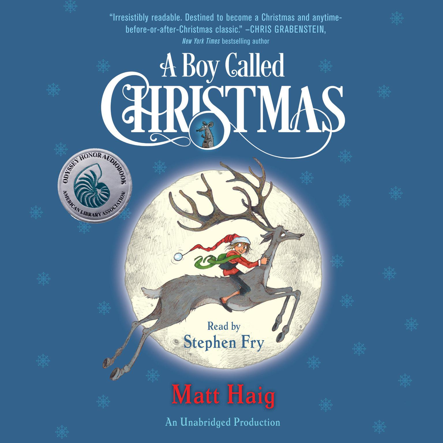 Printable A Boy Called Christmas Audiobook Cover Art
