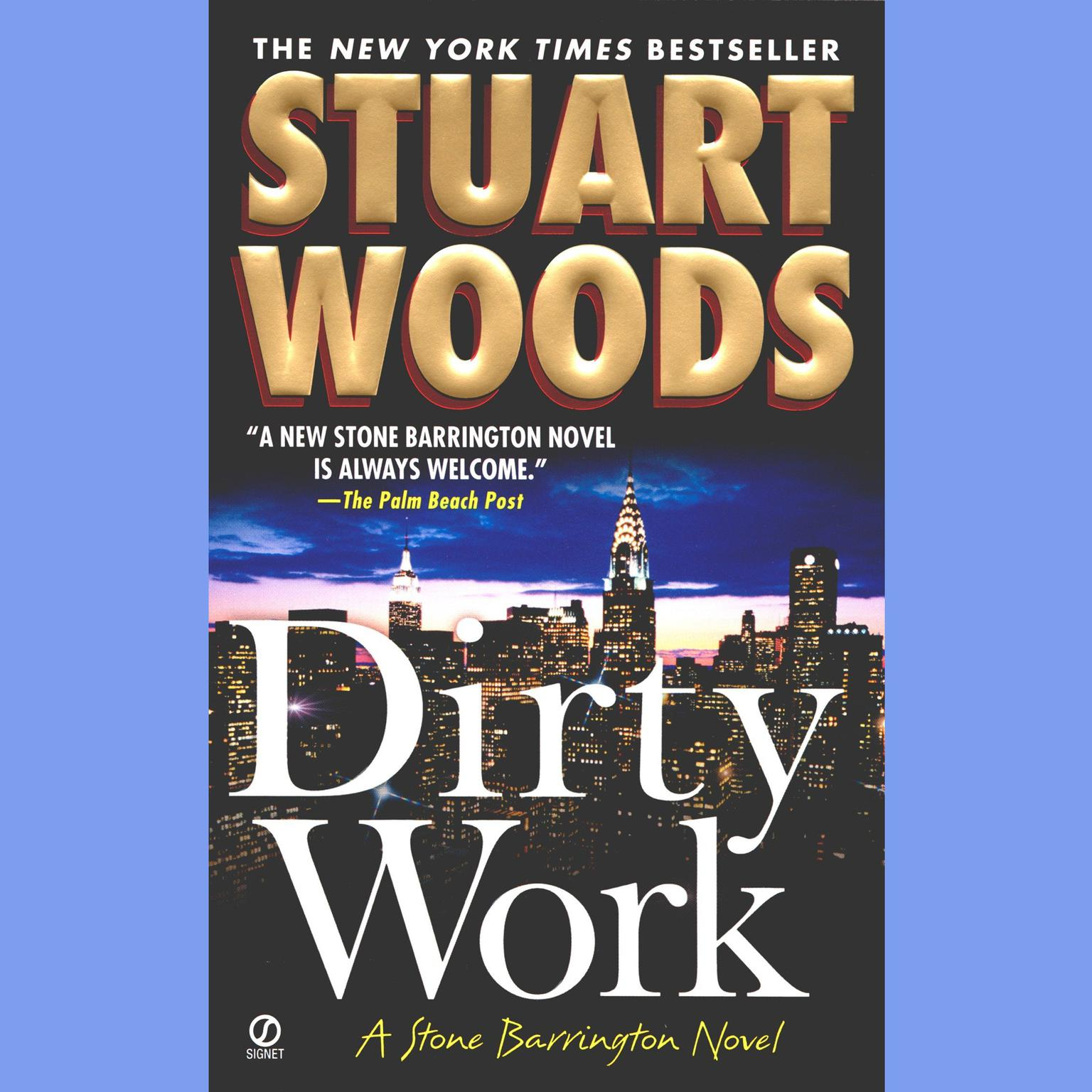 Printable Dirty Work: A Stone Barrington Novel Audiobook Cover Art