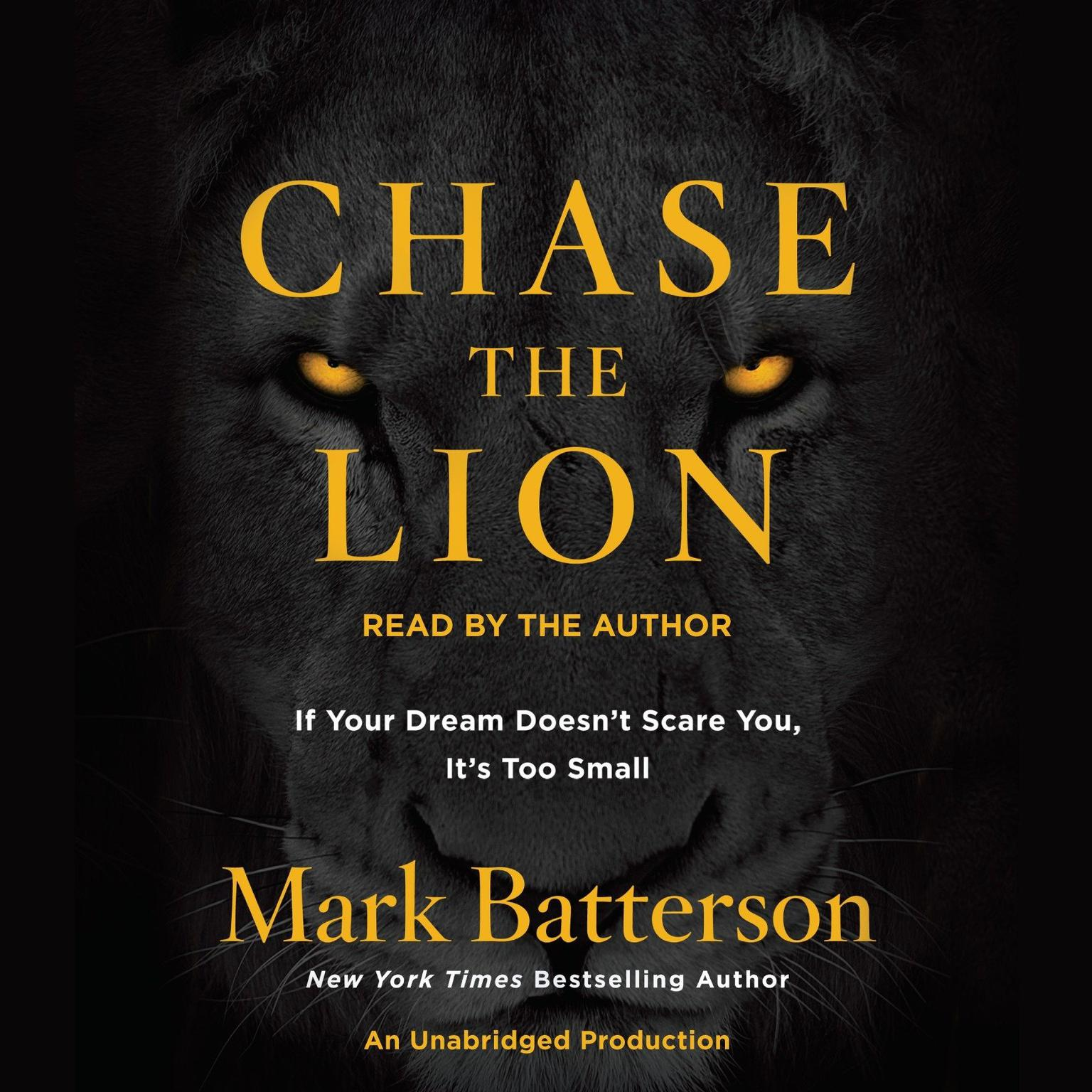 Printable Chase the Lion: If Your Dream Doesn't Scare You, It's Too Small Audiobook Cover Art