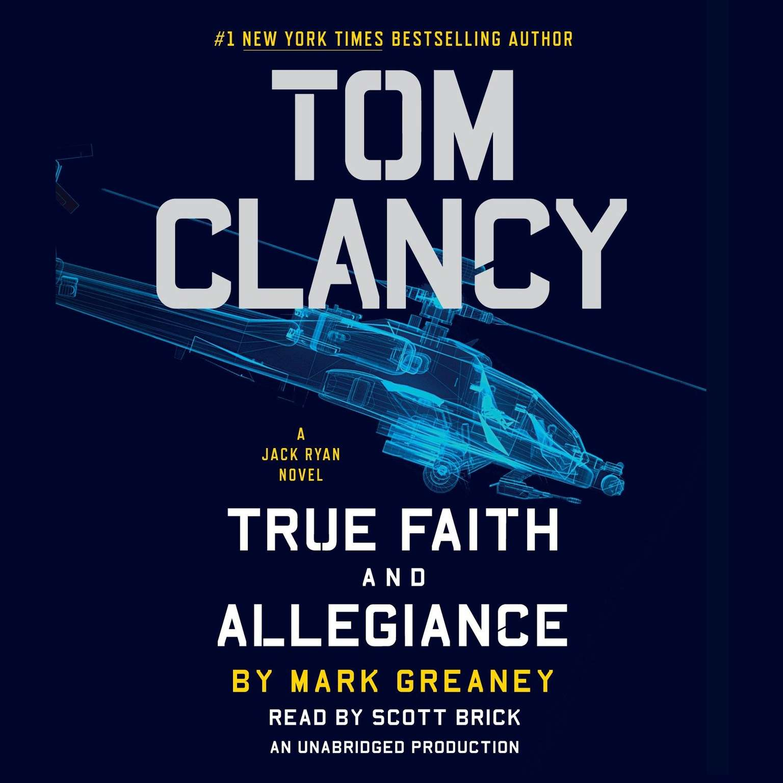 Printable Tom Clancy True Faith and Allegiance Audiobook Cover Art