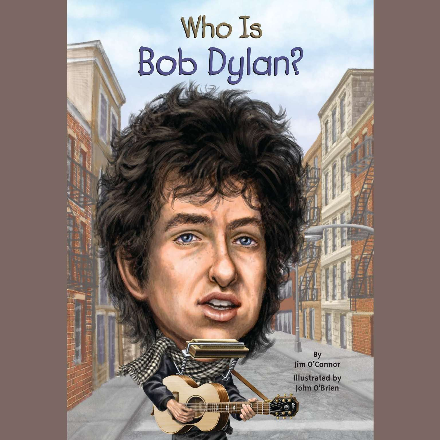 Printable Who Is Bob Dylan? Audiobook Cover Art