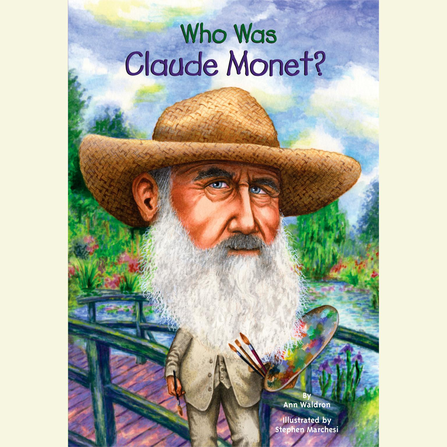 Printable Who Was Claude Monet? Audiobook Cover Art