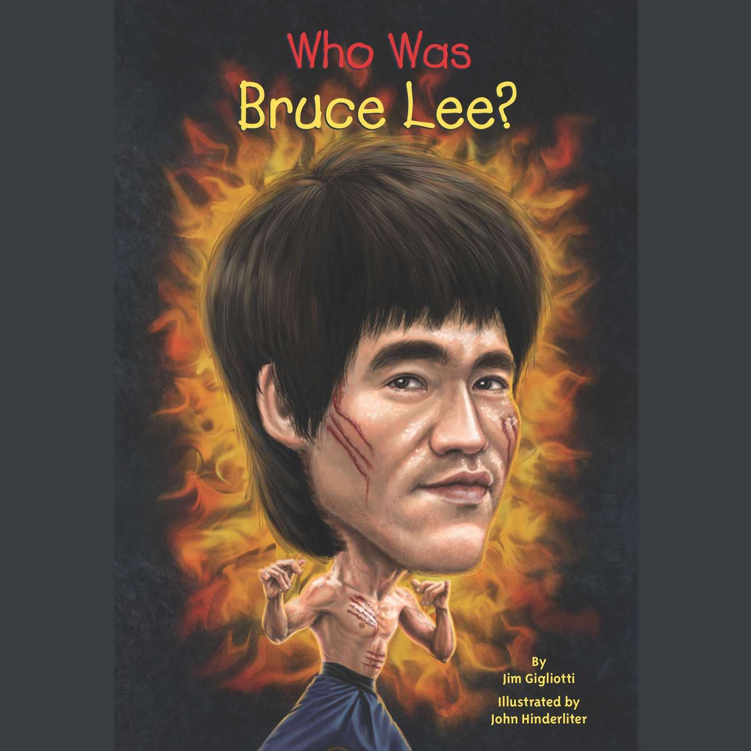 Printable Who Was Bruce Lee? Audiobook Cover Art