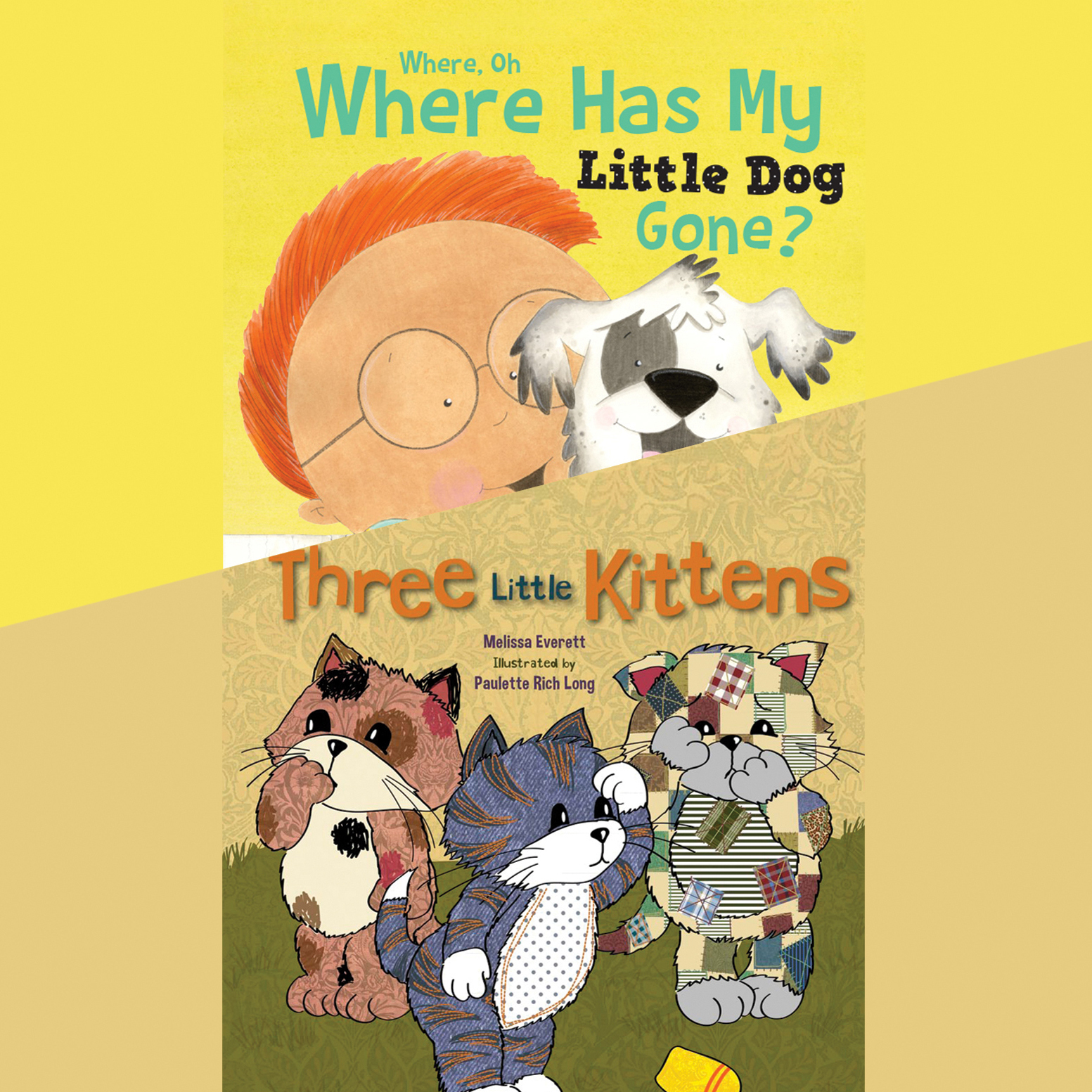 Printable Where, Oh, Where Has My Little Dog Gone?; & Three Little Kittens Audiobook Cover Art