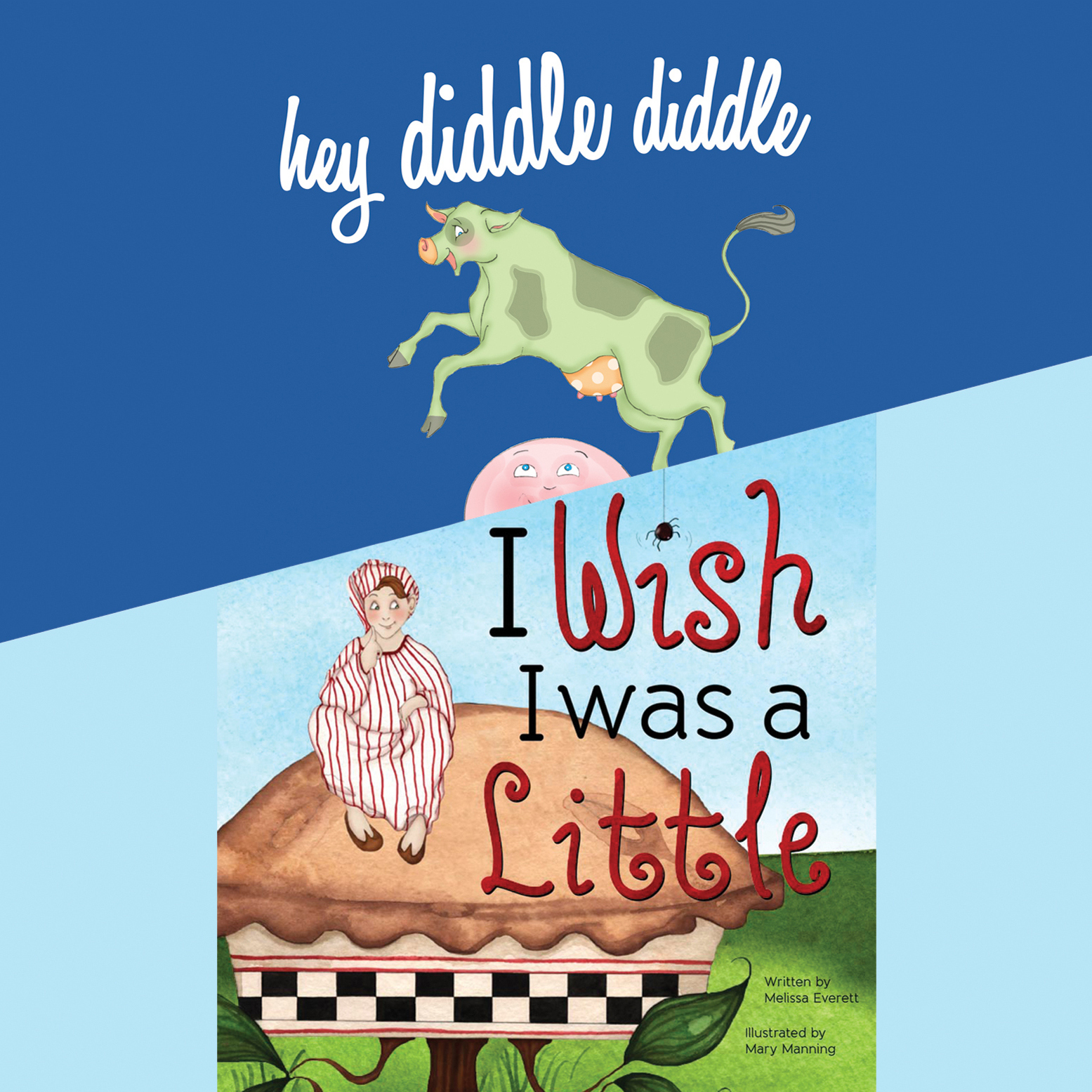 Printable Hey Diddle Diddle; & I Wish I Was a Little Audiobook Cover Art