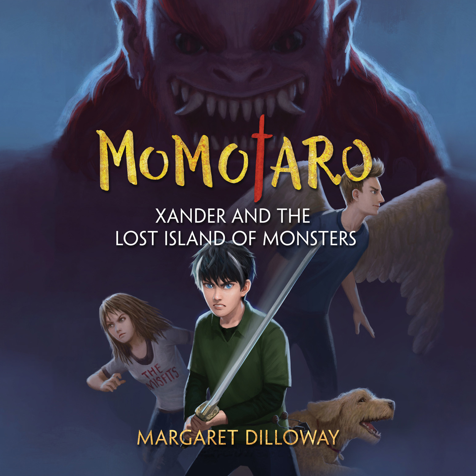 Printable Momotaro Xander and the Lost Island of Monsters Audiobook Cover Art
