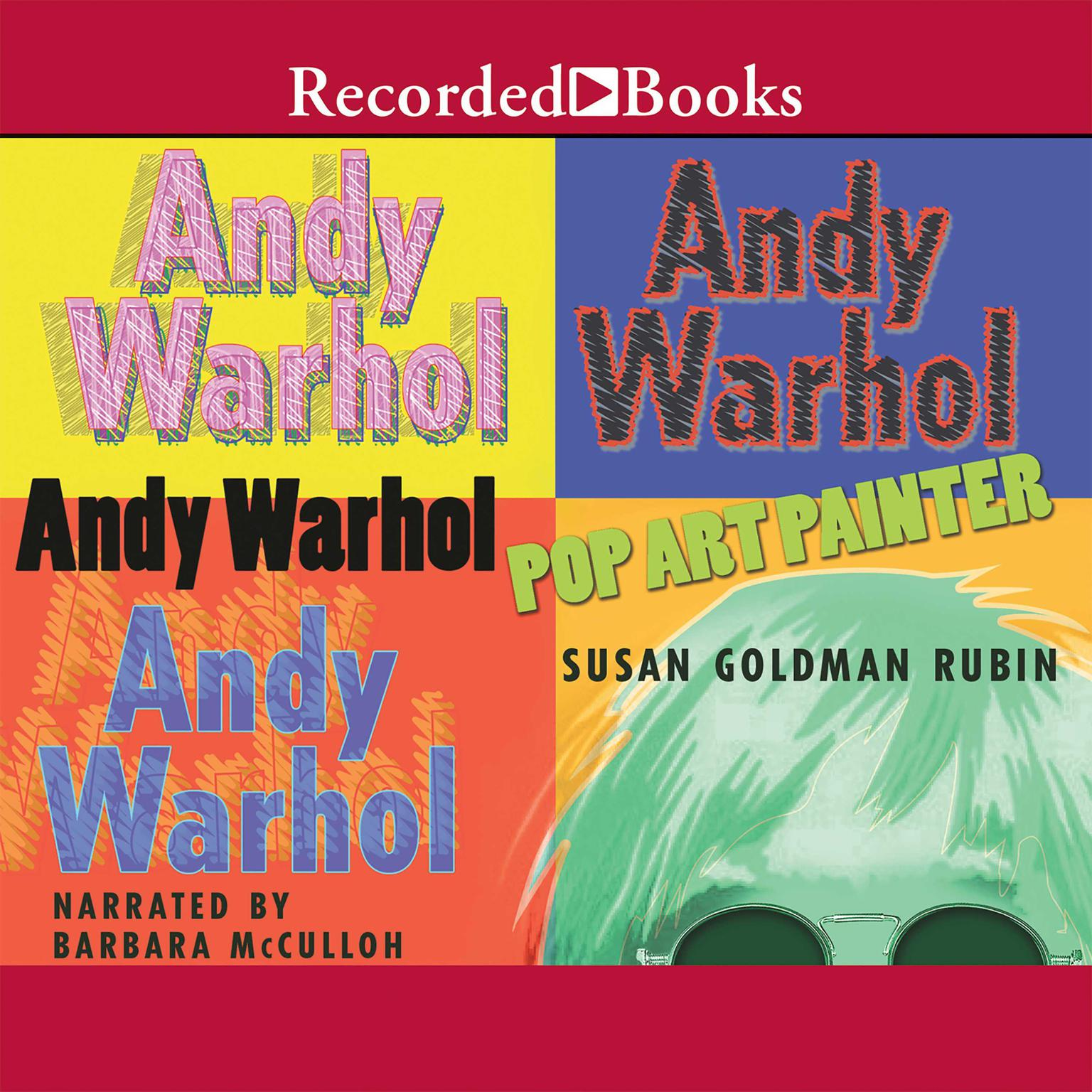 Printable Andy Warhol: Pop Art Painter Audiobook Cover Art