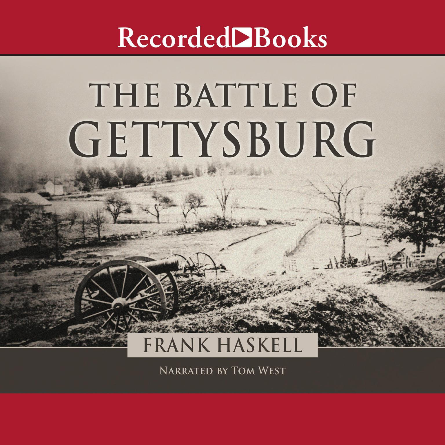 Printable The Battle of Gettysburg Audiobook Cover Art