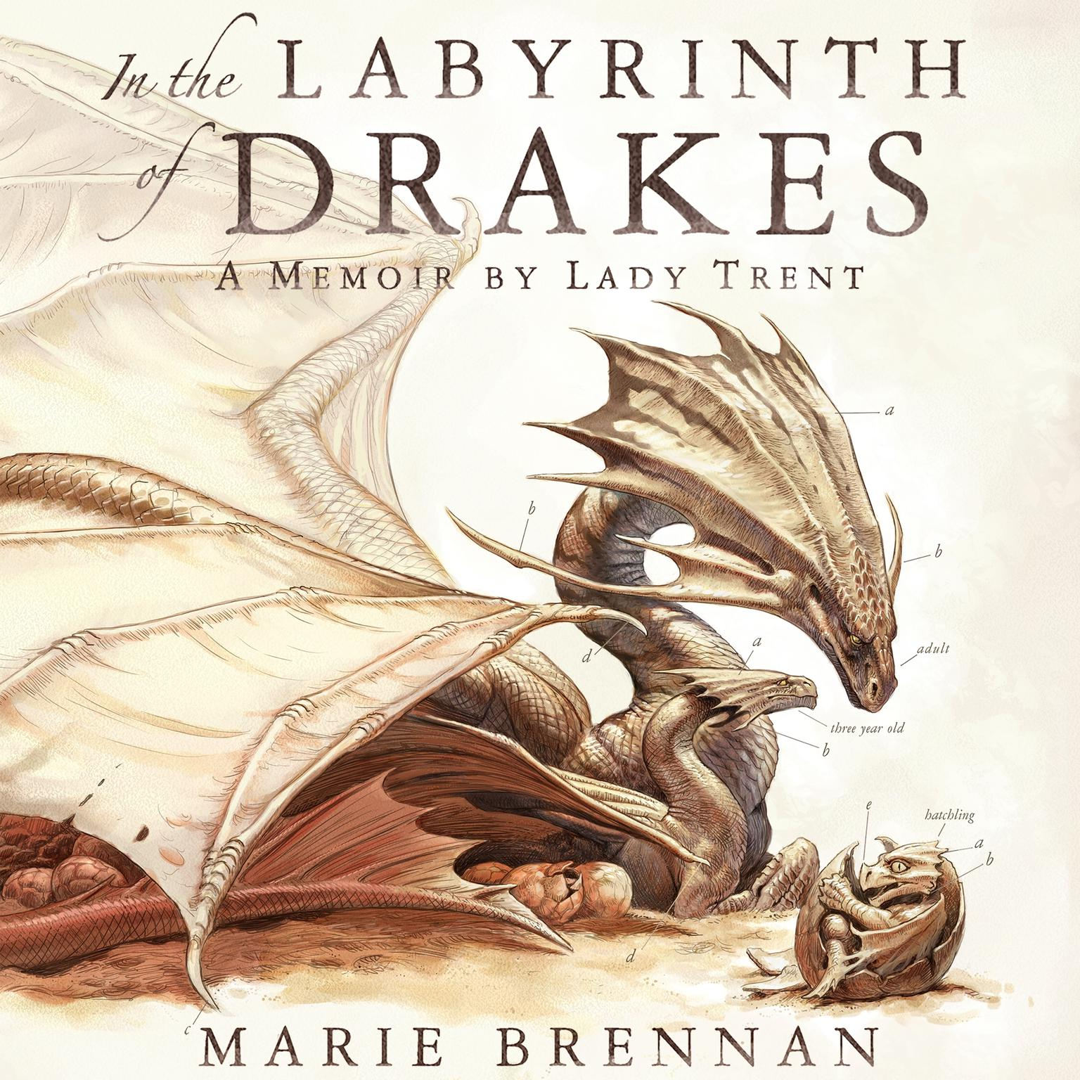 Printable In the Labyrinth of Drakes: A Memoir by Lady Trent Audiobook Cover Art