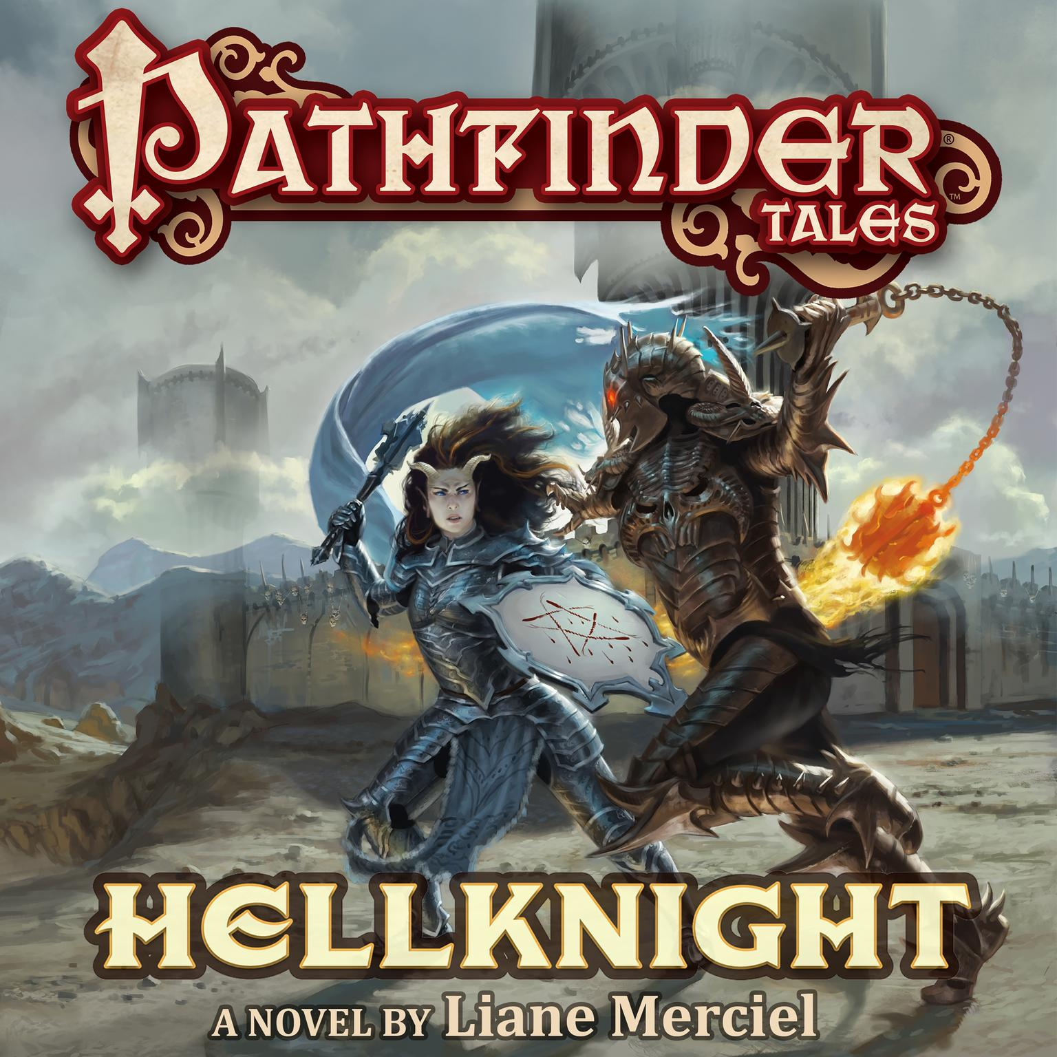 Printable Pathfinder Tales: Hellknight Audiobook Cover Art