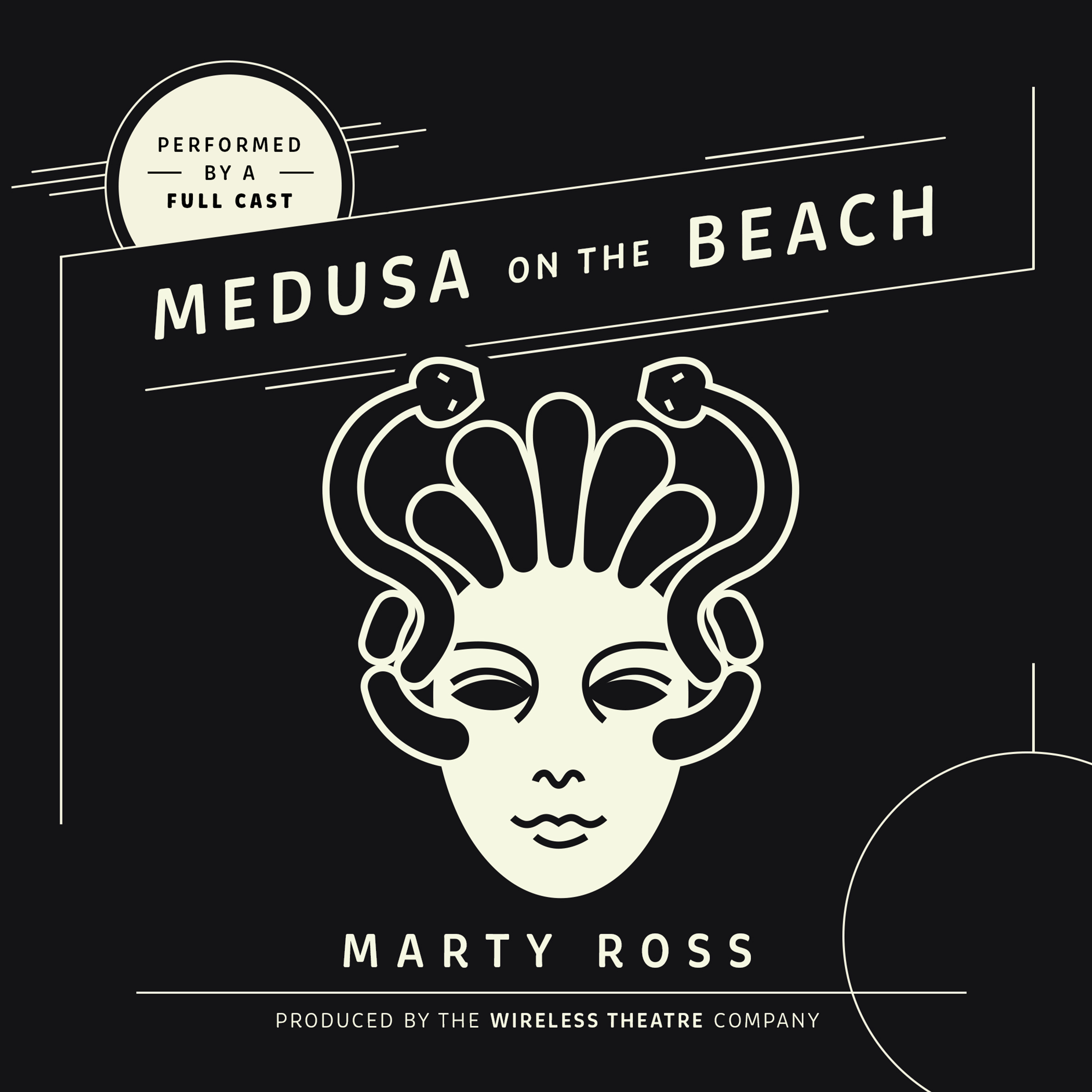 Printable Medusa on the Beach Audiobook Cover Art