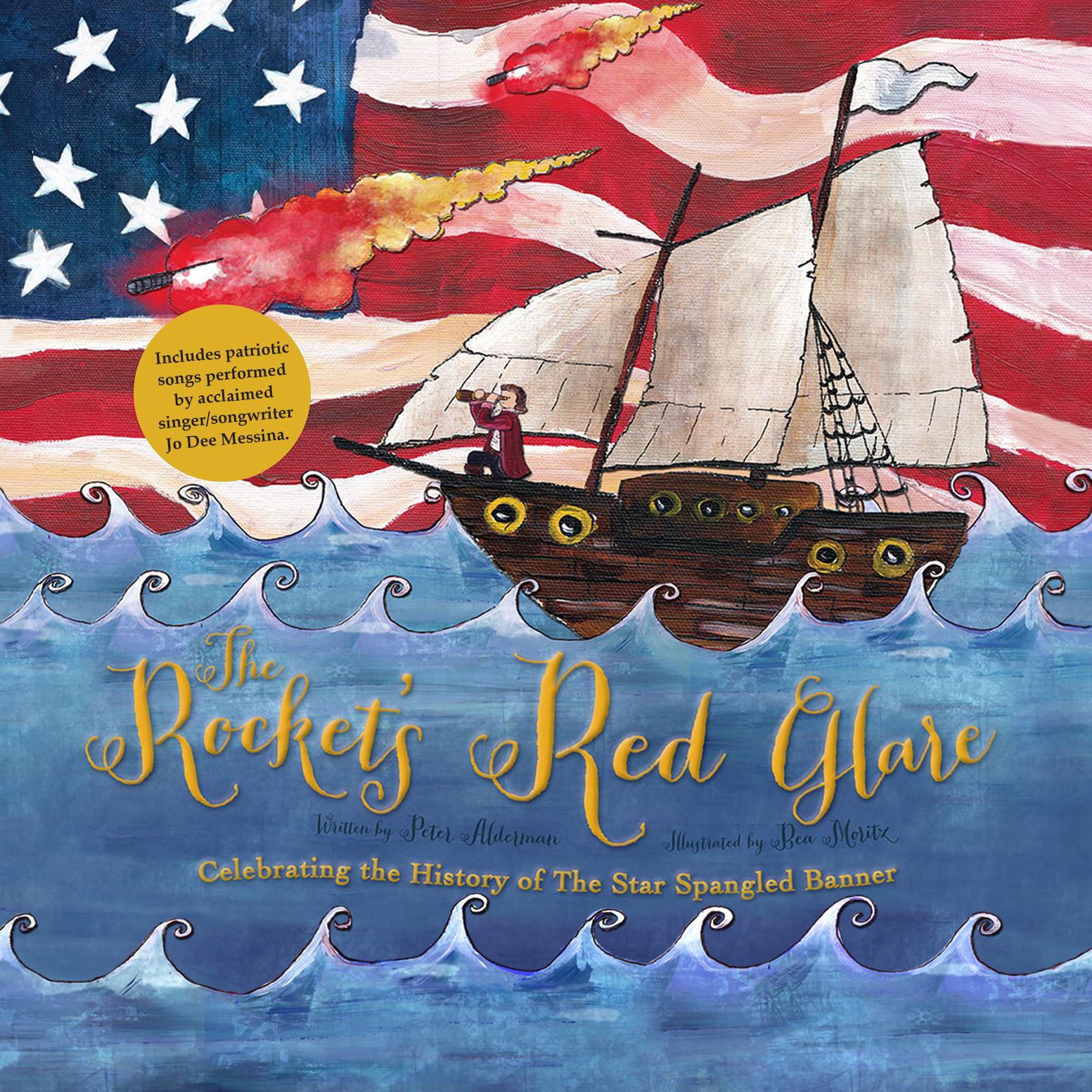 Printable The Rocket's Red Glare: Celebrating the History of the Star Spangled Banner Audiobook Cover Art