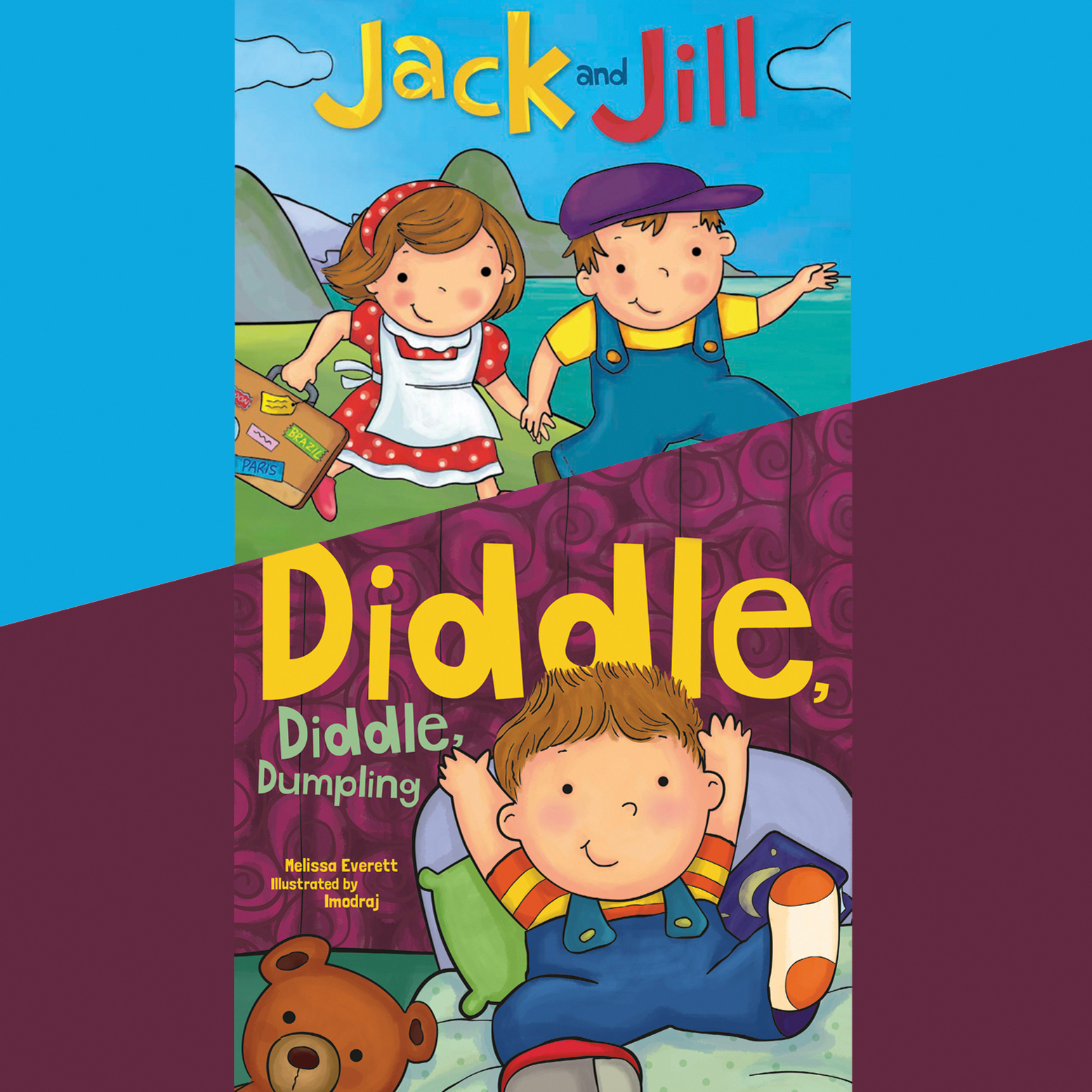 Printable Jack and Jill; & Diddle, Diddle, Dumpling Audiobook Cover Art