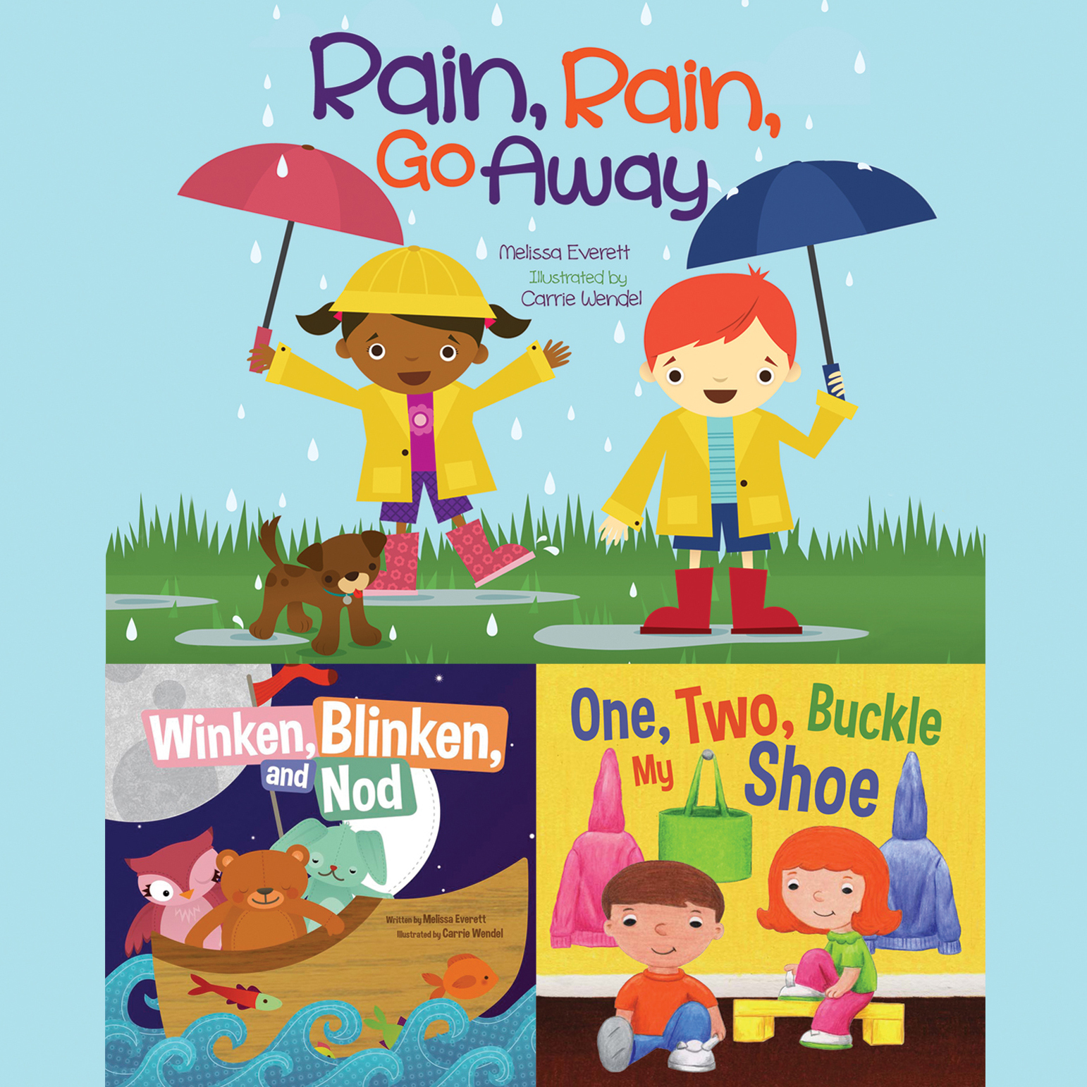 graphic relating to One Two Buckle My Shoe Printable named Rain, Rain, Move Absent; Winken, Blinken, and Nod; A person, 2, Buckle My Shoe Audiobook