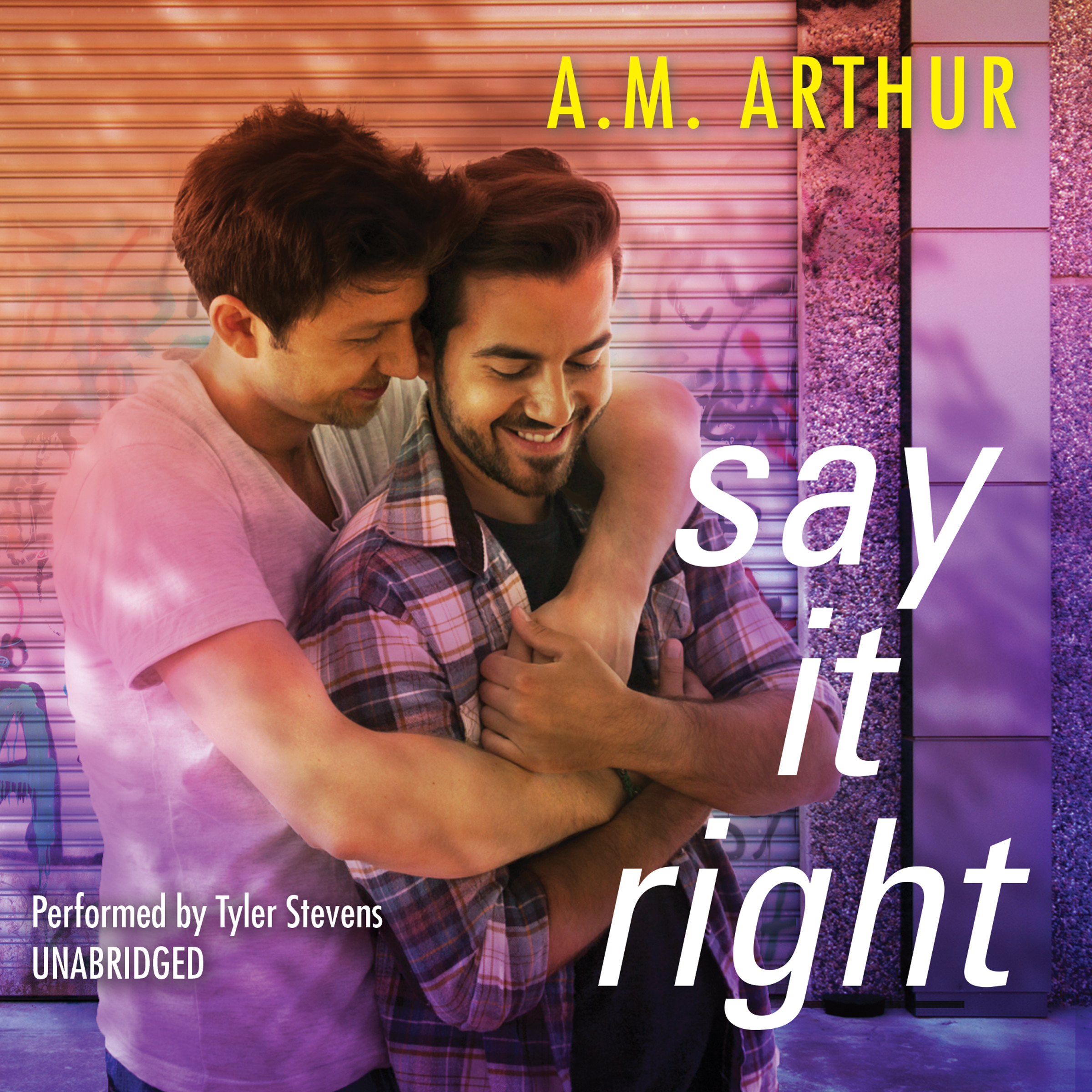 Printable Say It Right Audiobook Cover Art