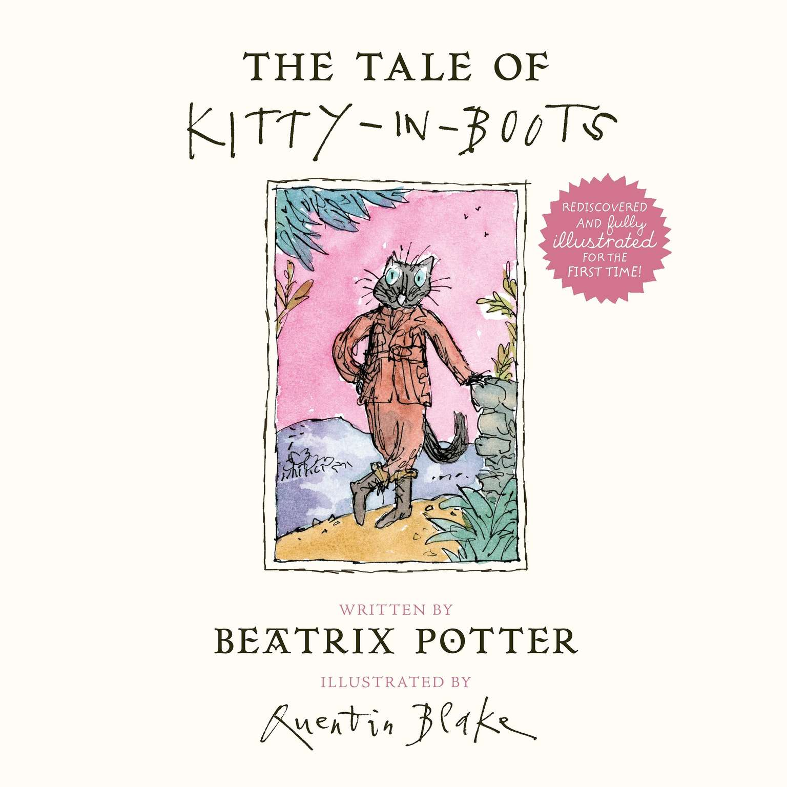 Printable The Tale of Kitty-in-Boots Audiobook Cover Art
