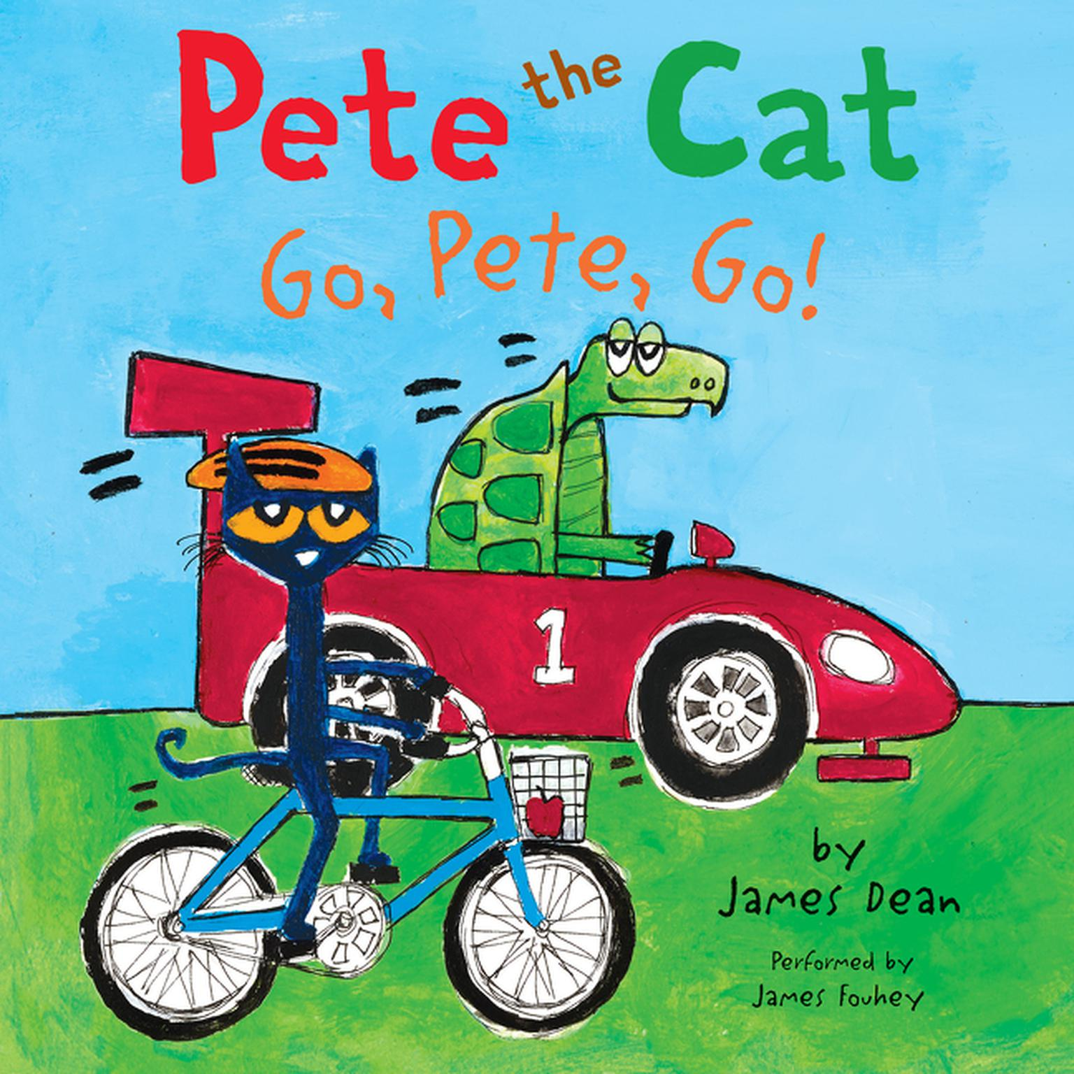 Printable Pete the Cat: Go, Pete, Go! Audiobook Cover Art
