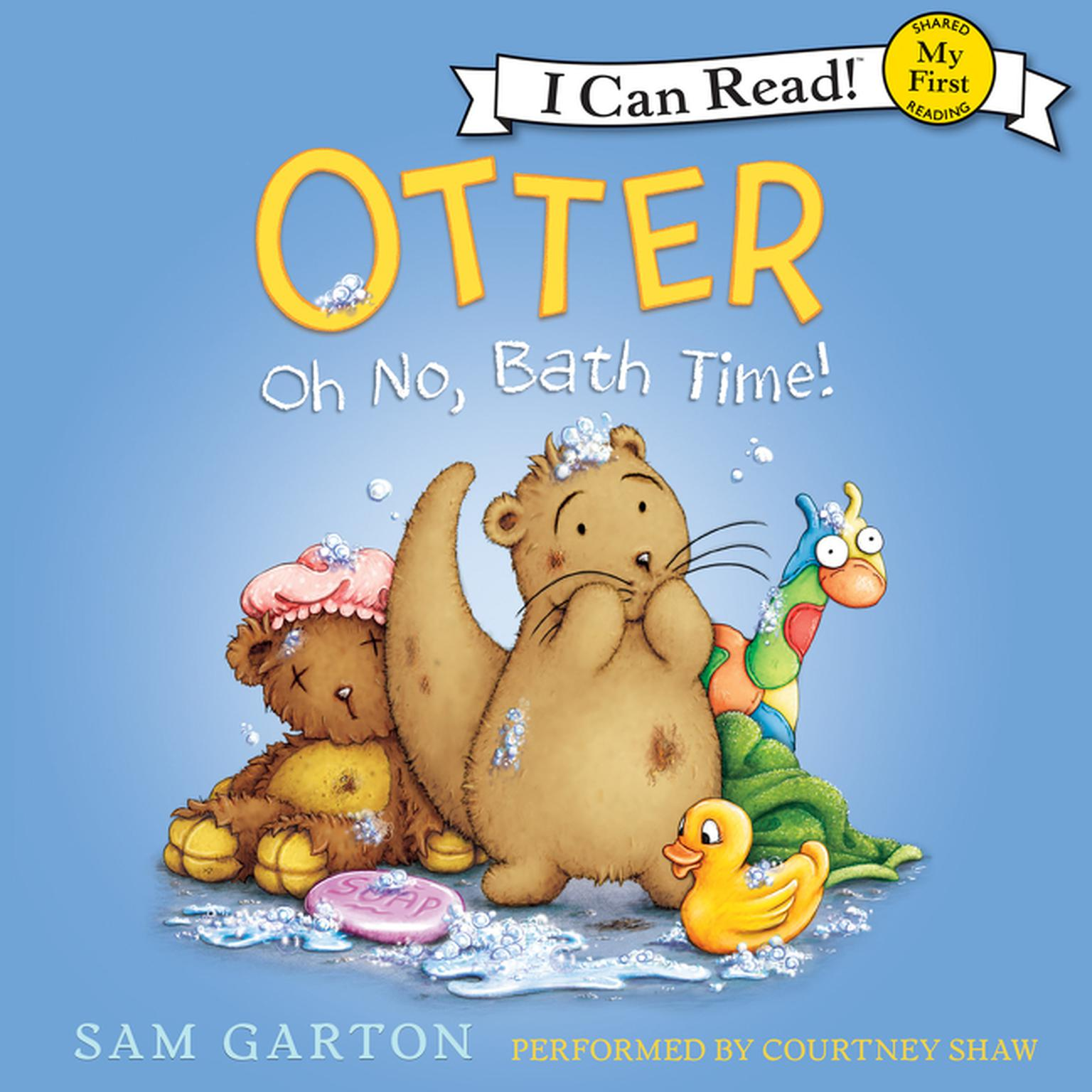 Printable Otter: Oh No, Bath Time! Audiobook Cover Art