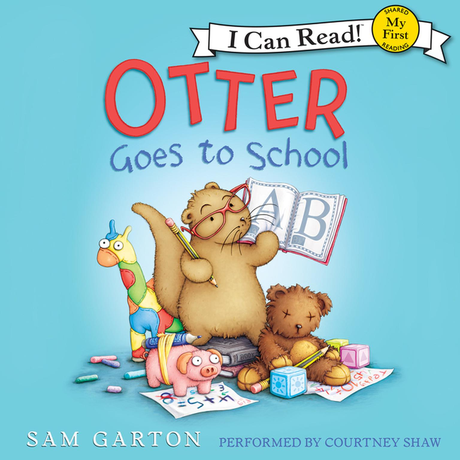 Printable Otter Goes to School Audiobook Cover Art