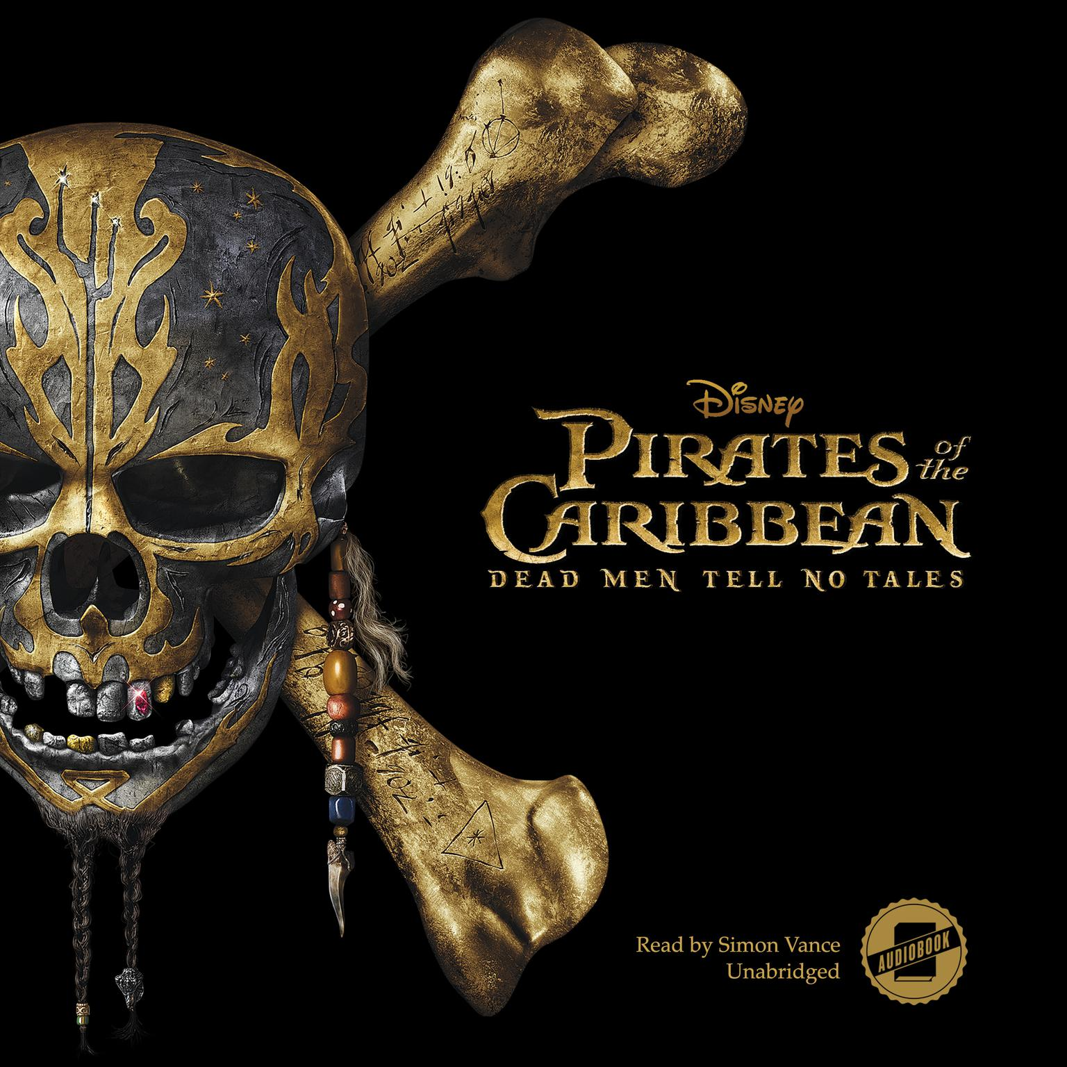 Printable Pirates of the Caribbean: Dead Men Tell No Tales Audiobook Cover Art