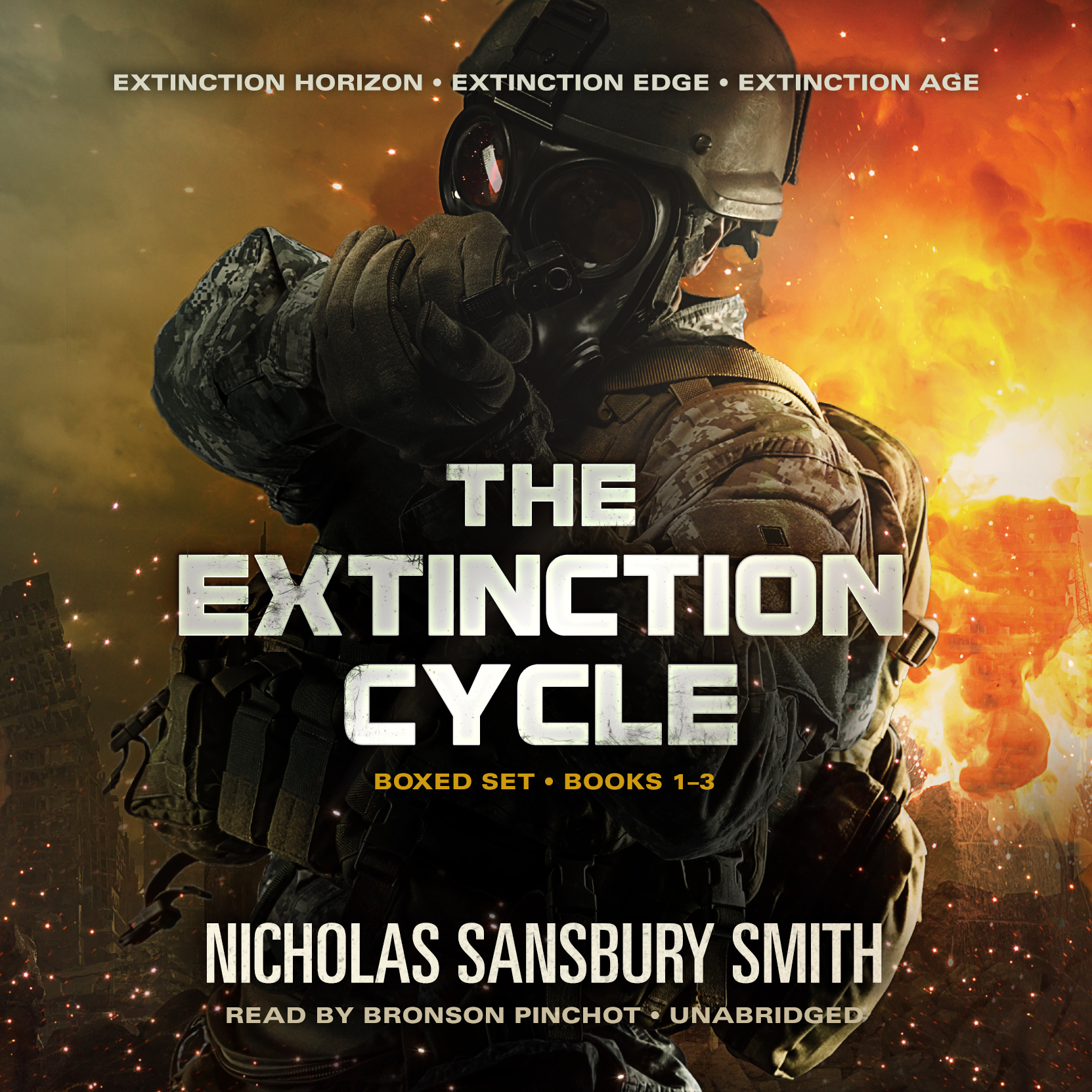 Printable The Extinction Cycle Boxed Set, Books 1–3: Extinction Horizon, Extinction Edge, and Extinction Age Audiobook Cover Art