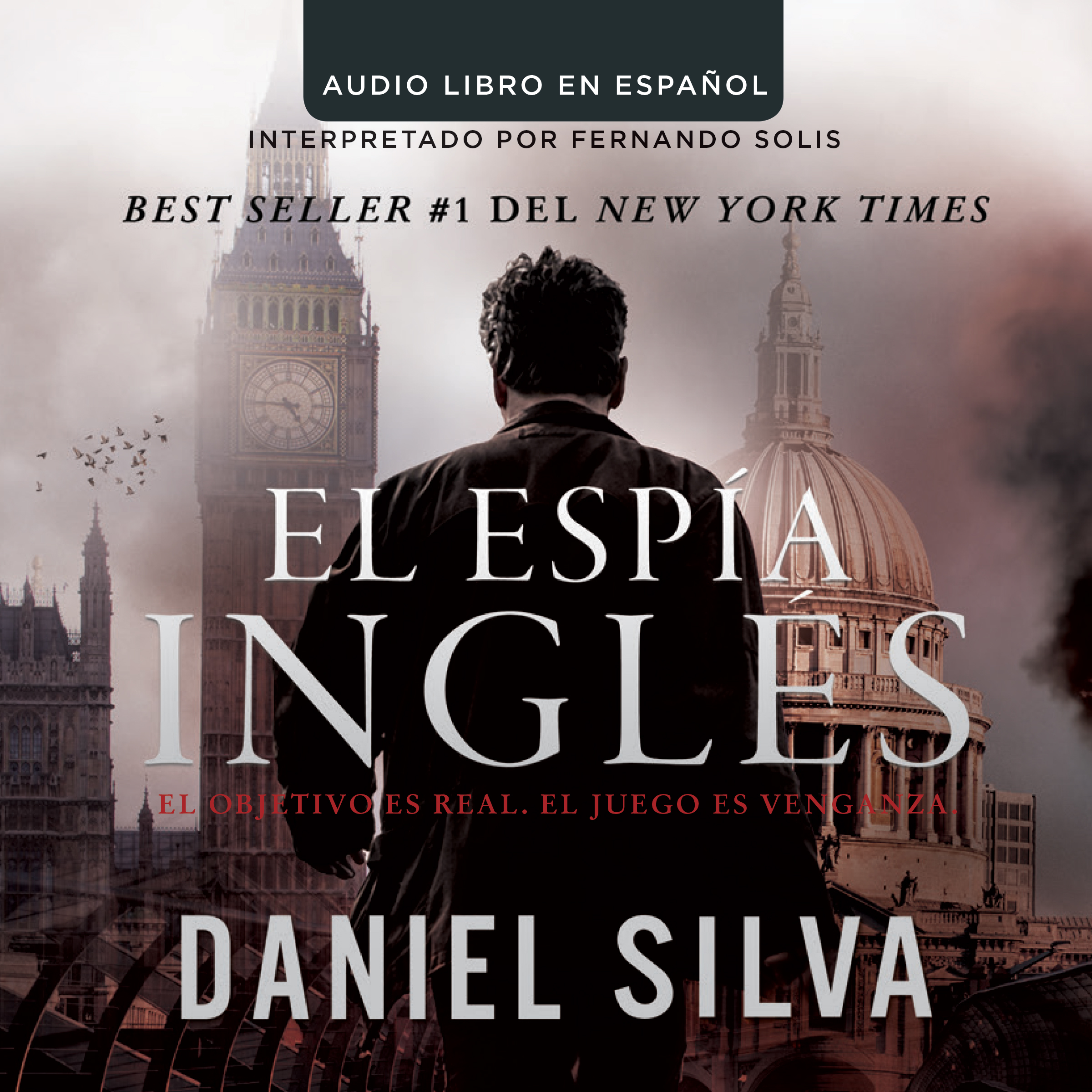 Printable El espía inglés Audiobook Cover Art
